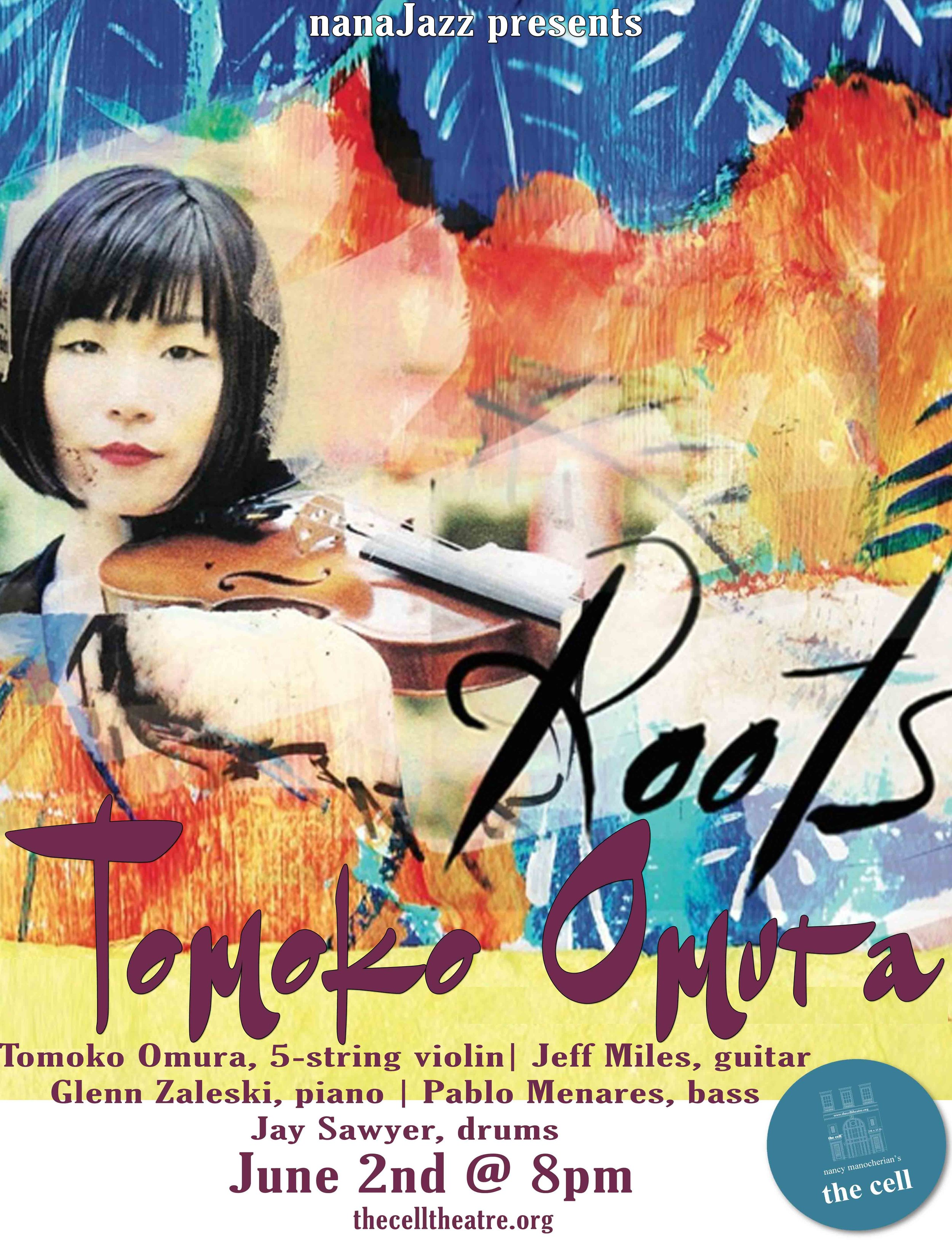 """Tomoko Omura is among today's leading voices in jazz violin. """"Roots"""", her debut album for Inner Circle, is a compelling tribute to her native Japan, featuring original arrangements of ten classic Japanese folk and popular songs. In the words of fellow violinist Christian Howes, """"'Roots' is a tremendous accomplishment, and undoubtedly one of the most important and creative jazz albums produced by a violinist in recent history.""""  Downbeat  magazine calls Tomoko """"a leader with a fine future"""" with 4 and half star. Her latest release """"Post Bop Gypsies"""" (2017) is an album that is played by Gypsy jazz instrumentation (violin, guitar and a bass) with the Post bop jazz attitude. Also from Inner Circle Music. She is chosen for one of """"Rising star"""" on critics poll, Downbeat Magazine in 2015, 2016 and 2017.  Strongly informed by the jazz violin tradition, her 2008 self-released debut album, """"Visions"""", is a collection of seven dynamic original pieces, each of which is dedicated to one of the greats of the instrument, from Stuff Smith to Zbigniew Seifert. Violinst Matt Glaser praises """"Visions"""" as such: """"Her playing here is uniformly amazing, with great ideas, great tone, perfect intonation and great feel..."""". """"Mark's Passion"""", dedicated to Mark Feldman, was awarded an Honorable Mention in the 2008 International Songwriting Competition. The release of """"Visions"""" also prompted  Strings  Magazine to name Omura a """"Rising Star"""" in 2009. In 2014, she was chosen as a semi finalist of the 1st International Zbigniew Seifert Jazz Violin Competition in Krakow, Poland.  Originally from Shizuoka, Japan, she began studying the violin at a young age with her mother, and began playing jazz music while studying at Yokohama National University. In 2004, Tomoko relocated to the United States when she was awarded a scholarship to study at the Berklee College of Music in Boston, MA. While at Berklee, Tomoko worked with such legendary musicians as George Garzone, Hal Crook, Ed Tomassi, Jamey Haddad, Ma"""