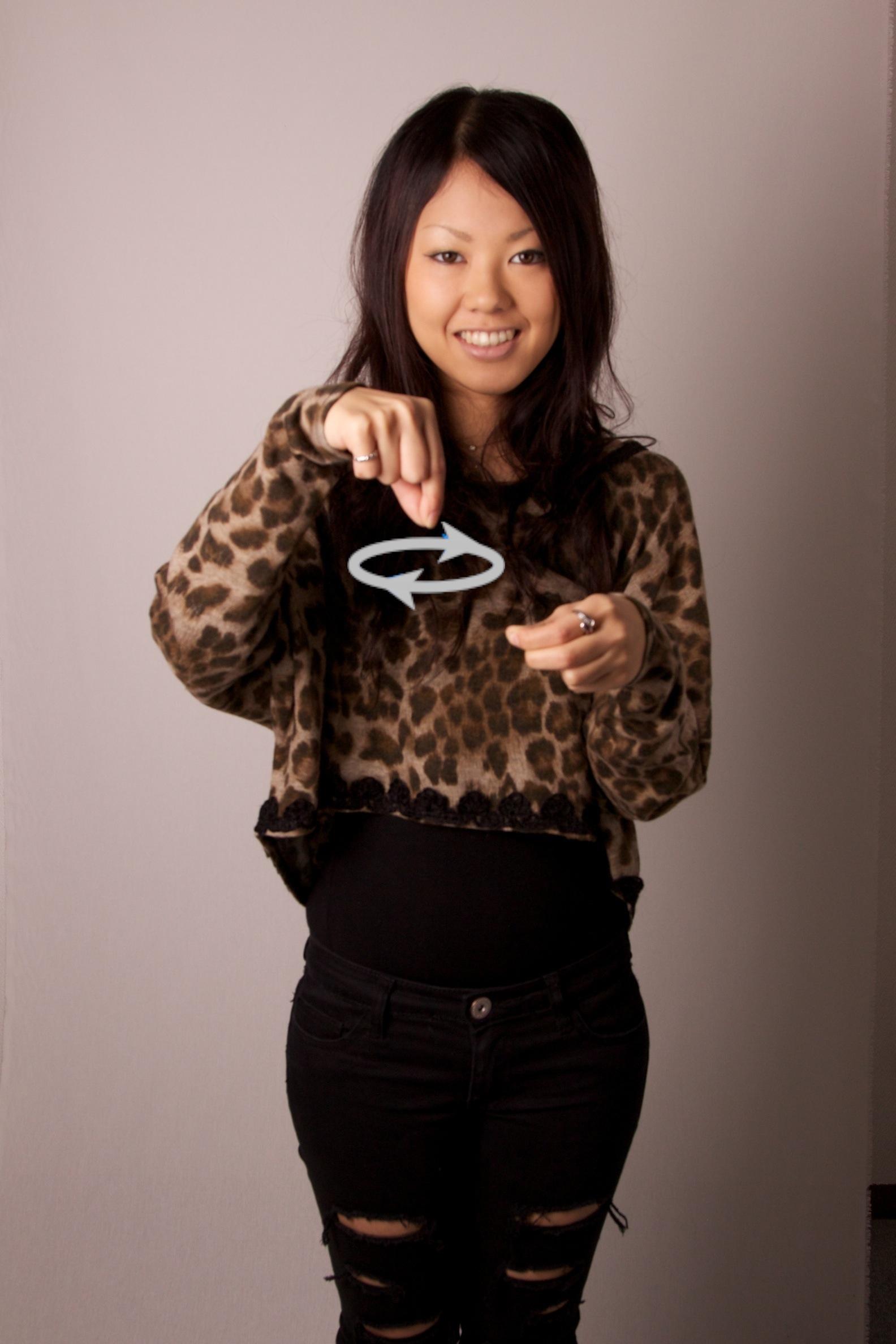 """日本手話『コーヒー』 JSL for """"Coffee"""""""