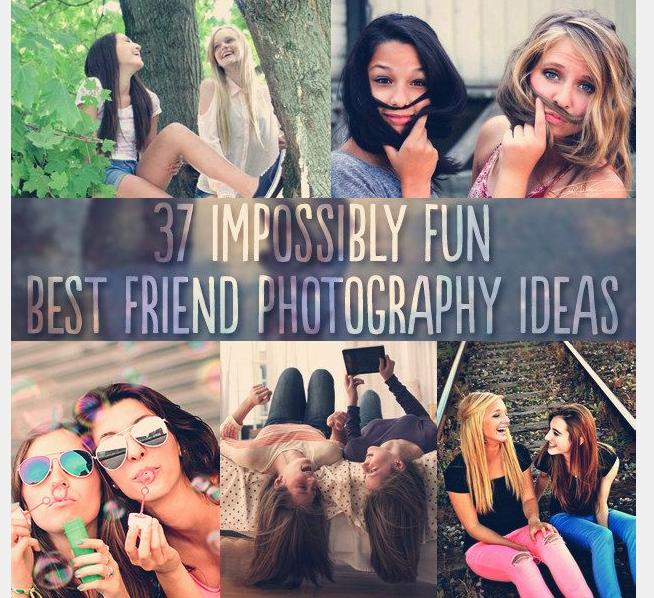 Best Friend Photoshoots: essentially engagement pictures for best friends.