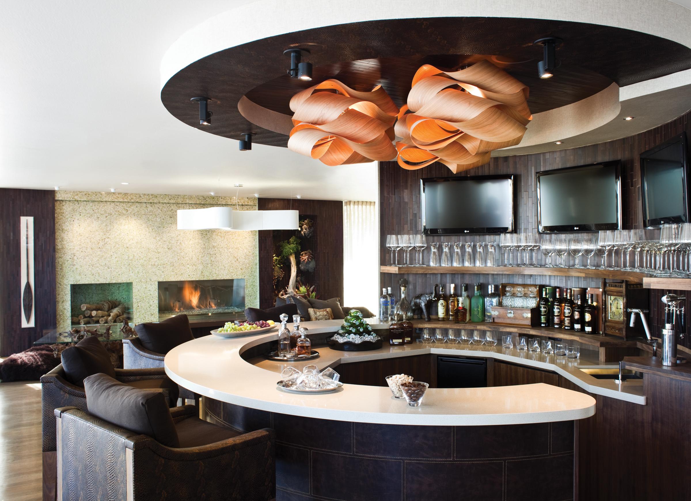 Bar and Ceiling - Mahogany Buffalo and Crocodile Ceiling.jpg