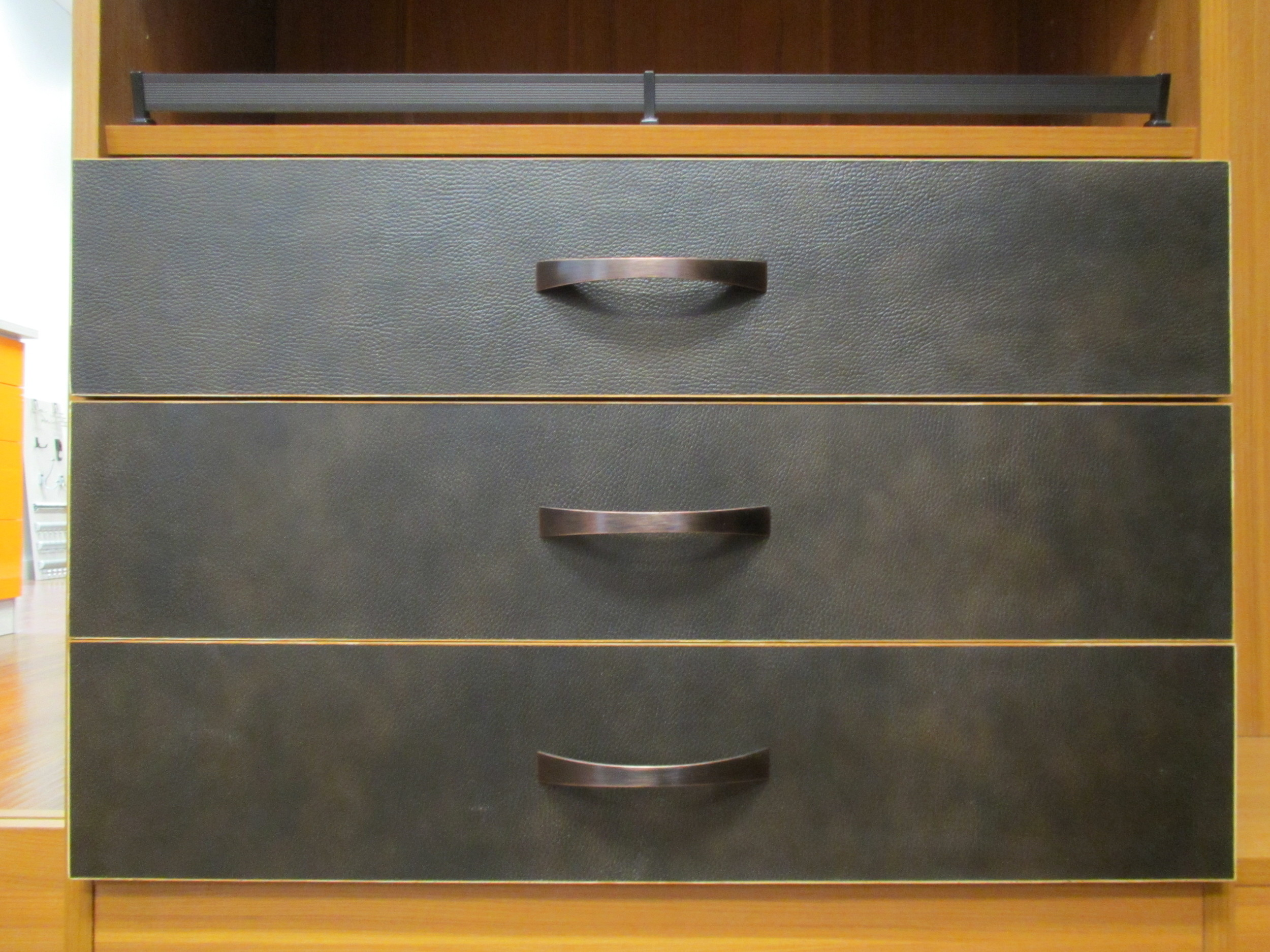 Recycled Leather Drawer Fronts.JPG
