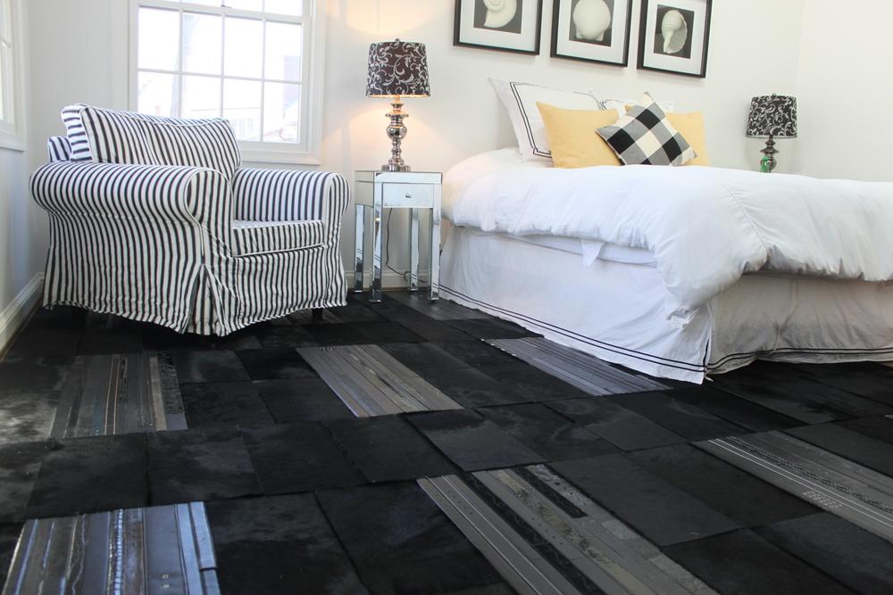 Designer: Custom Panelized Hair on Hide & Belt Floor – DC Residence