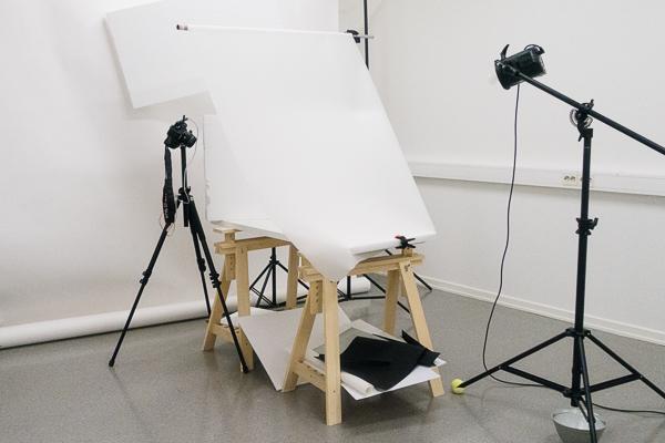 Rigg för produktfotografering.