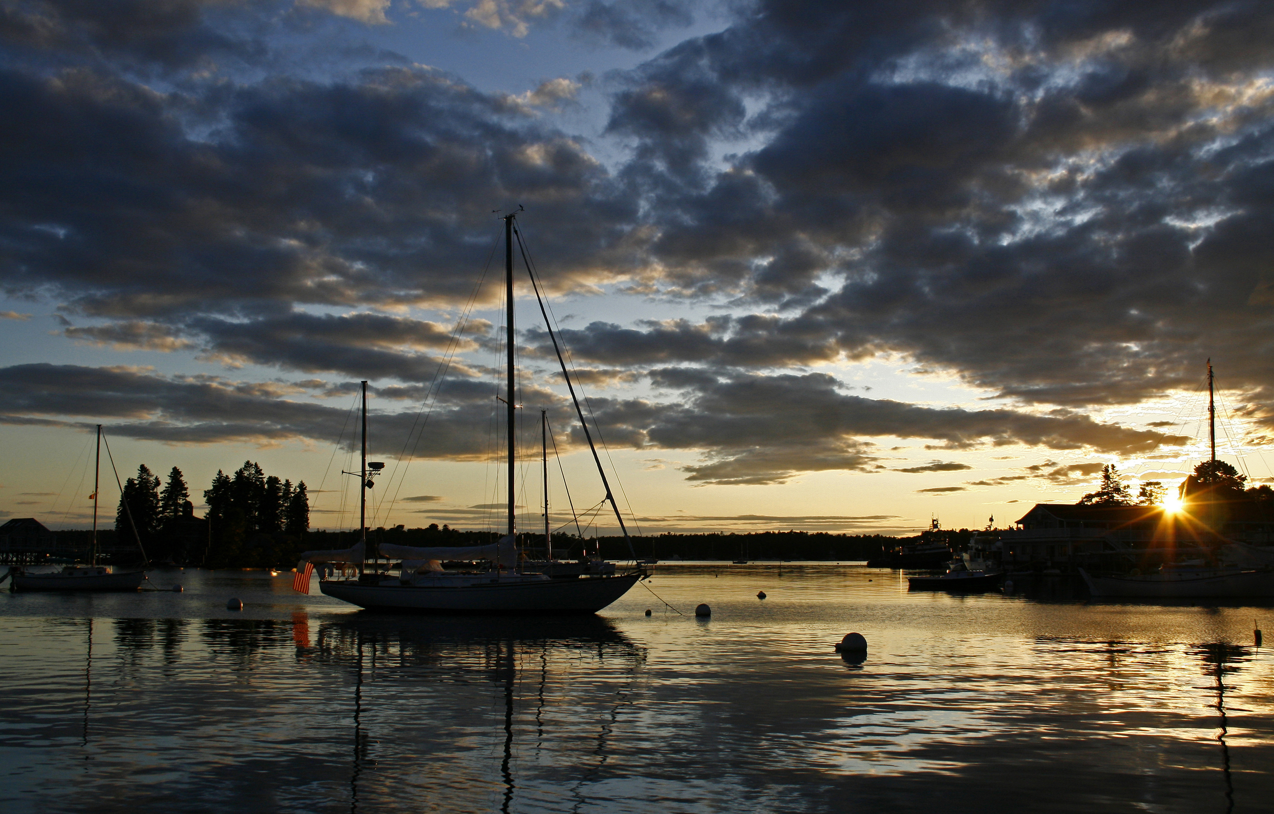 Sunset Boothbay Harbor