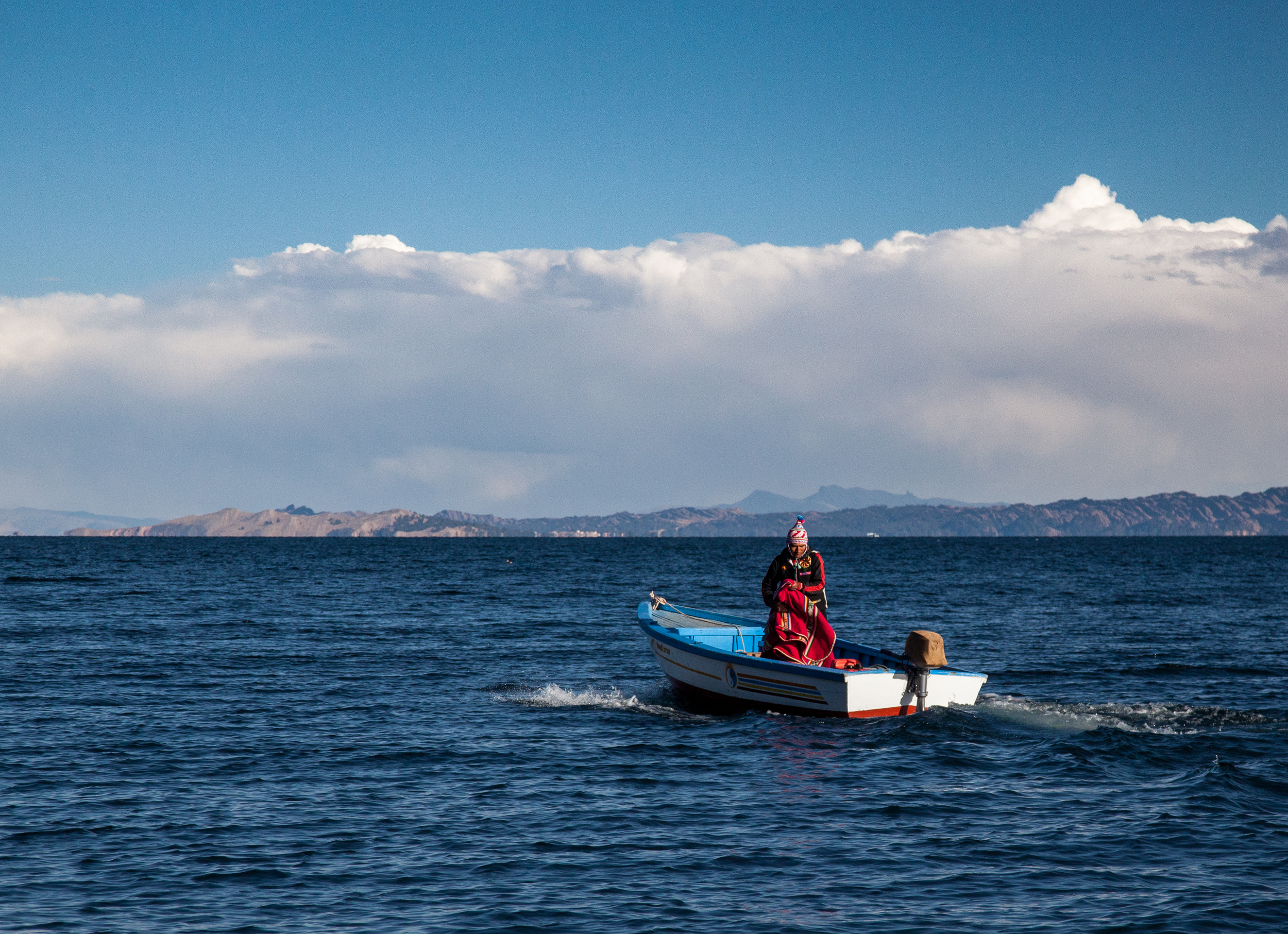 Boats like this are the primary means of transport around Lake Titicaca. We took one the following day to get to the Uros Islands and Taquile.