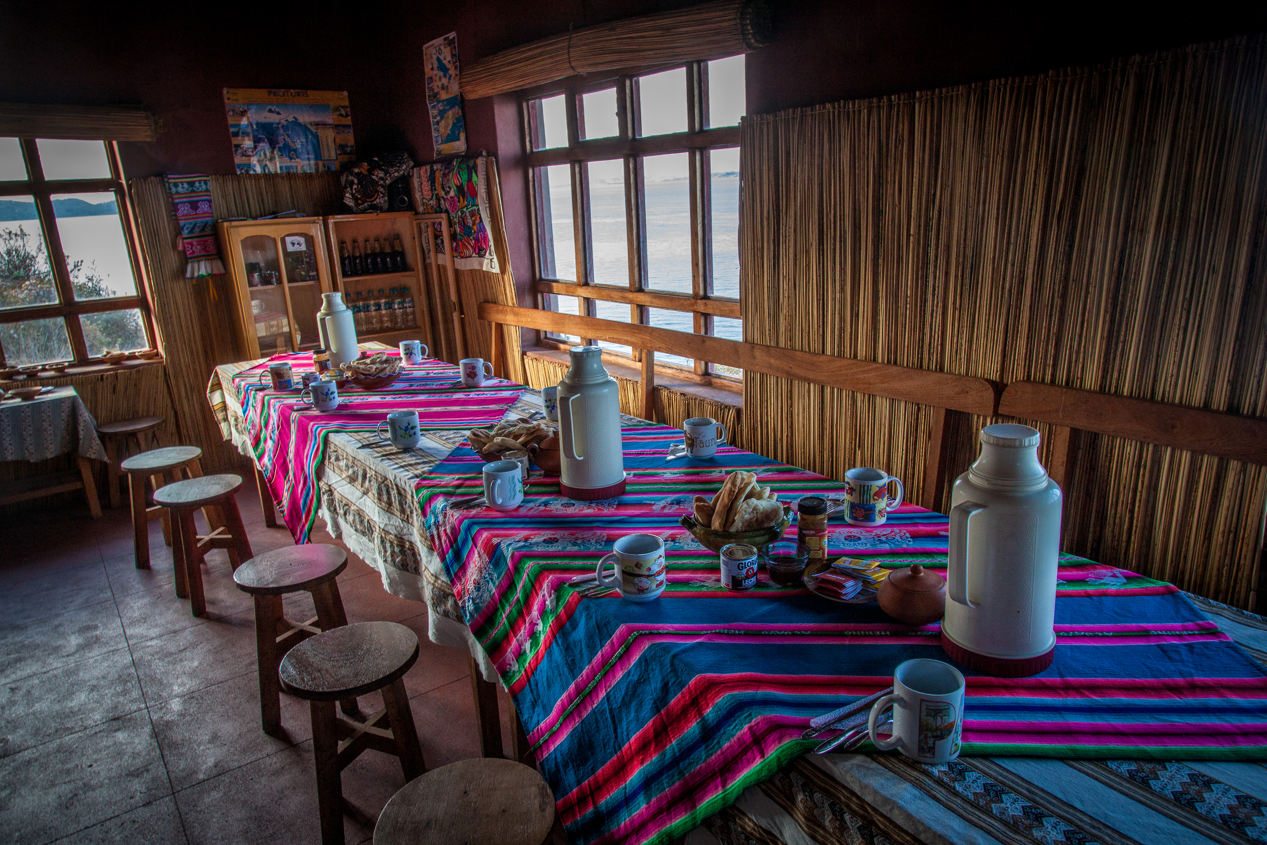 The dining room  at Hospedaje Samary.