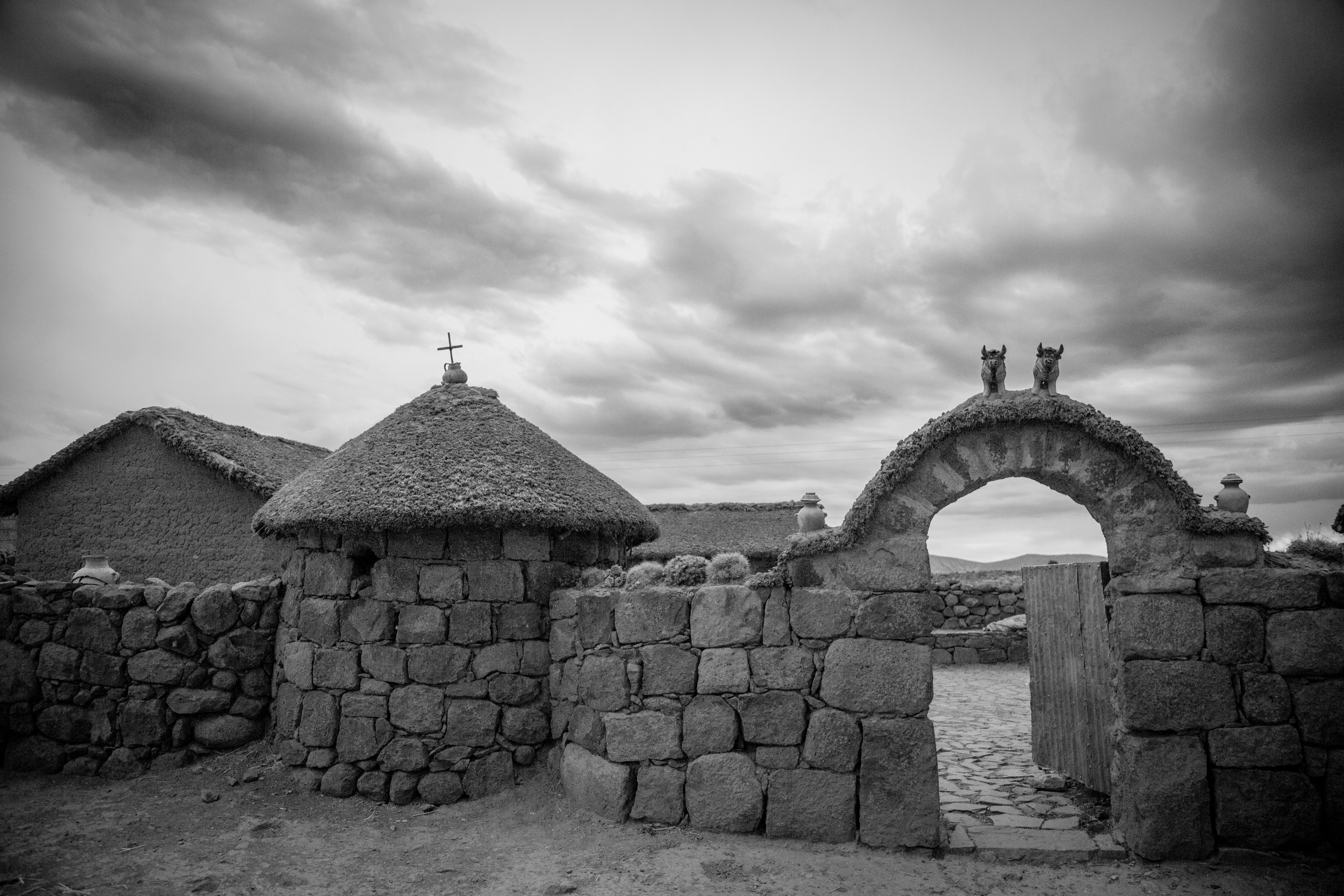 Traditional country home along road to Sillustani