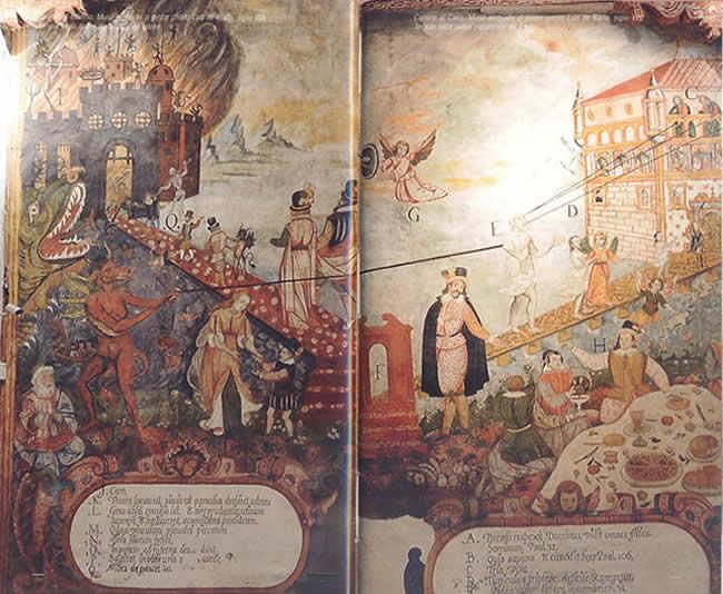Riaño's Camino al Cielo y Camino al Infrierno.  From the blog  De Arte y Cultura