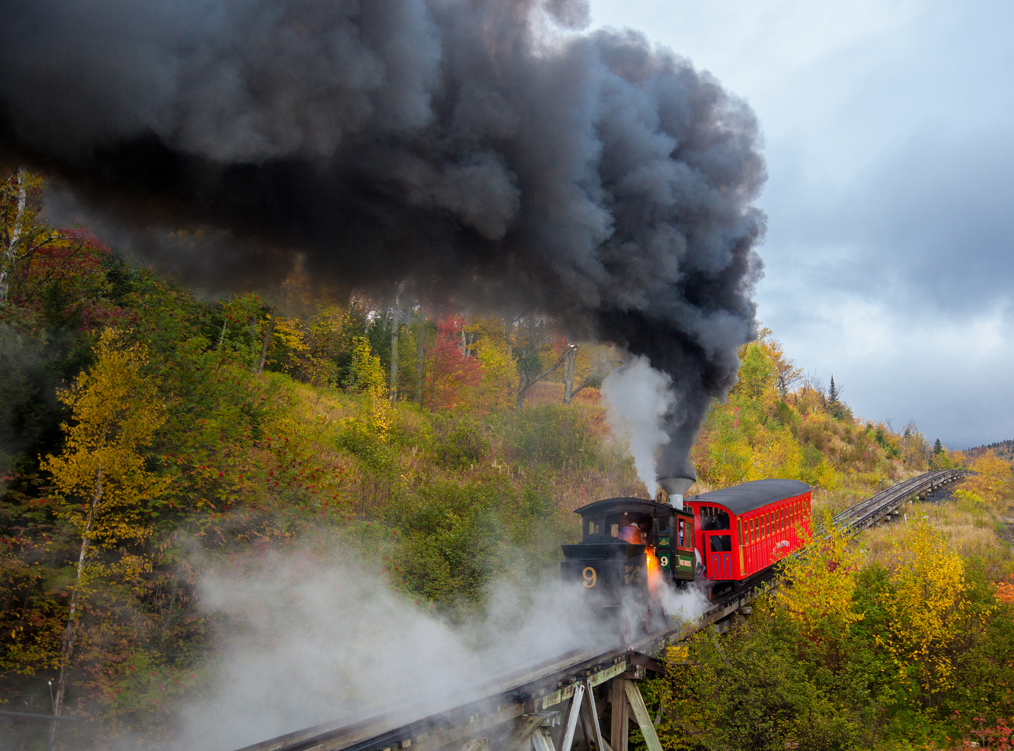 Steam Engine on the Cog Railway