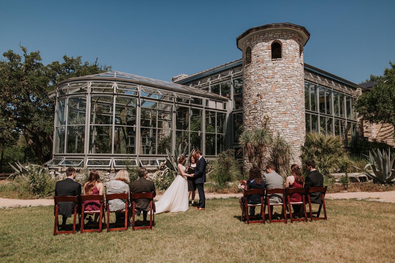 Greenhouse at Driftwood Wedding