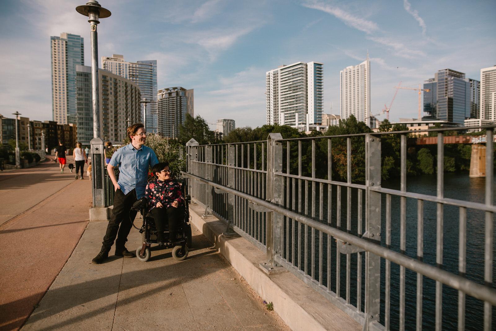 Austin engagement photography, Austin engagement session, Lamar pedestrian bridge engagement