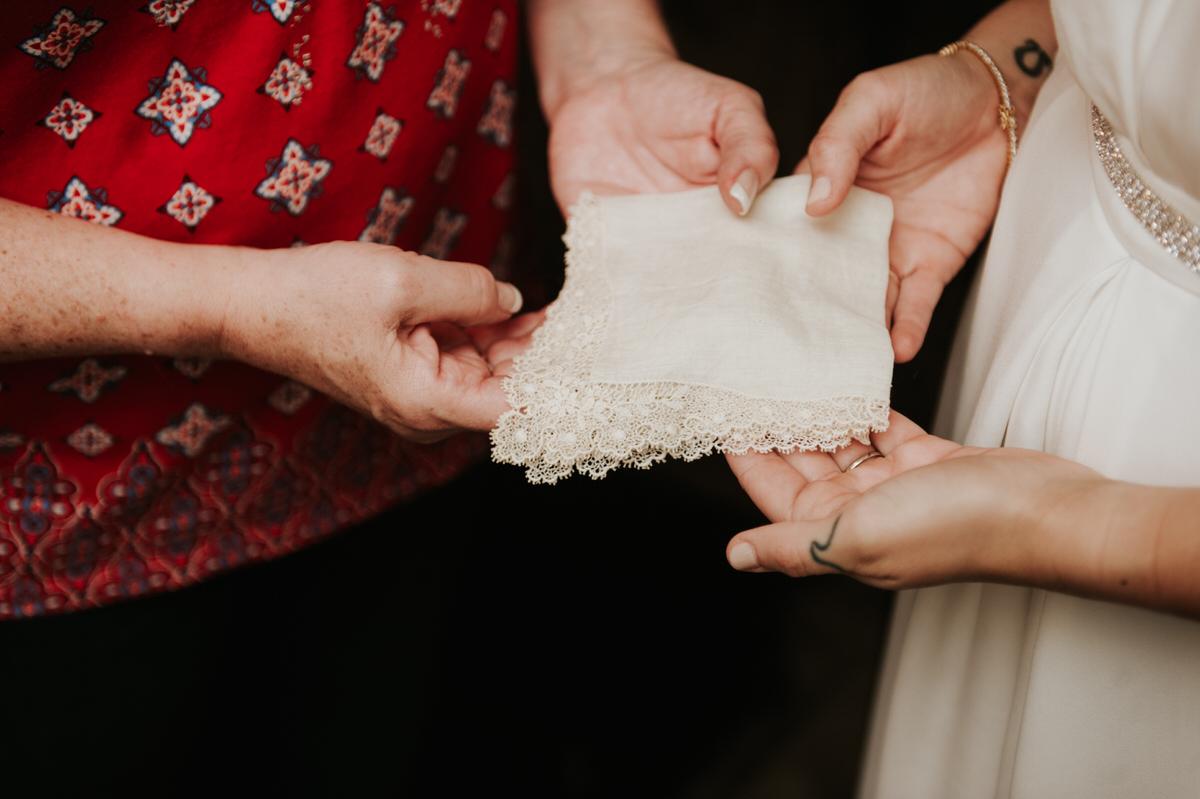 Bride getting ready at Ranch Austin wedding