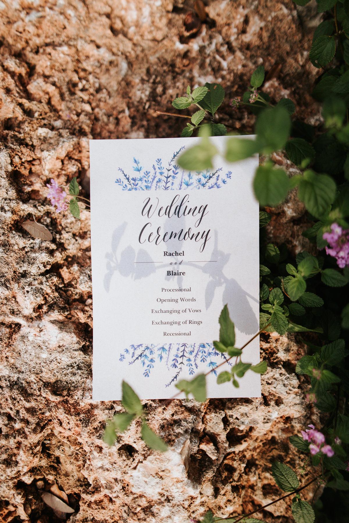 Wedding poster at Ranch Austin wedding
