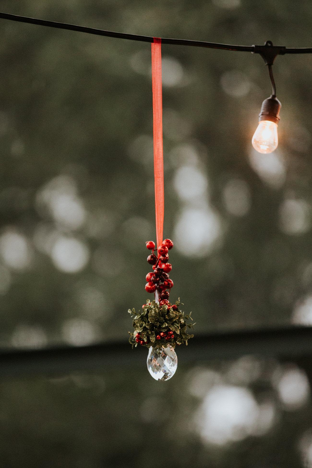 Christmas wedding Mistletoe