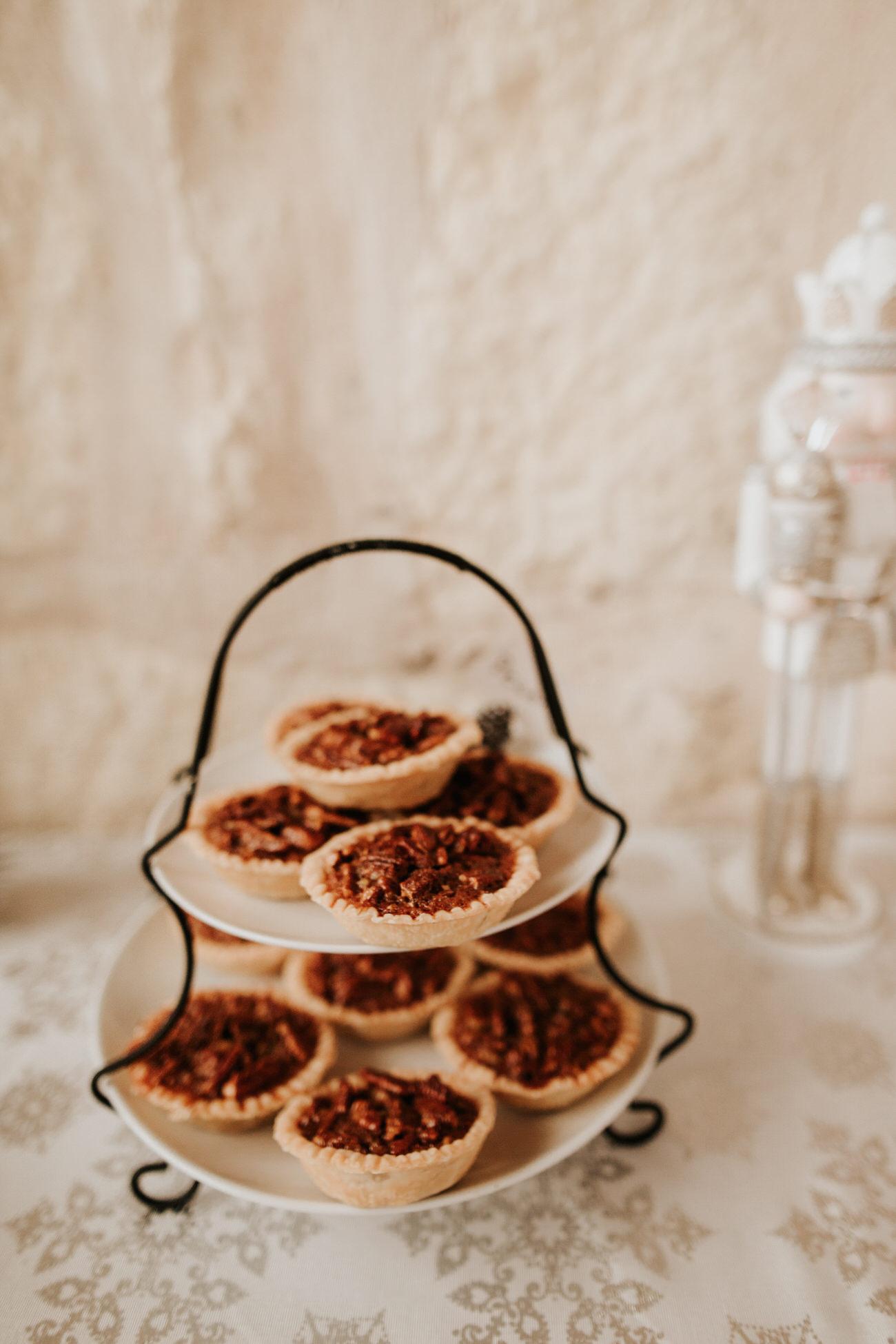 Mini pies at wedding dessert table