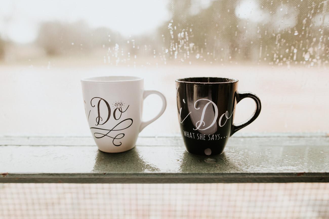 I do and I do wedding mugs