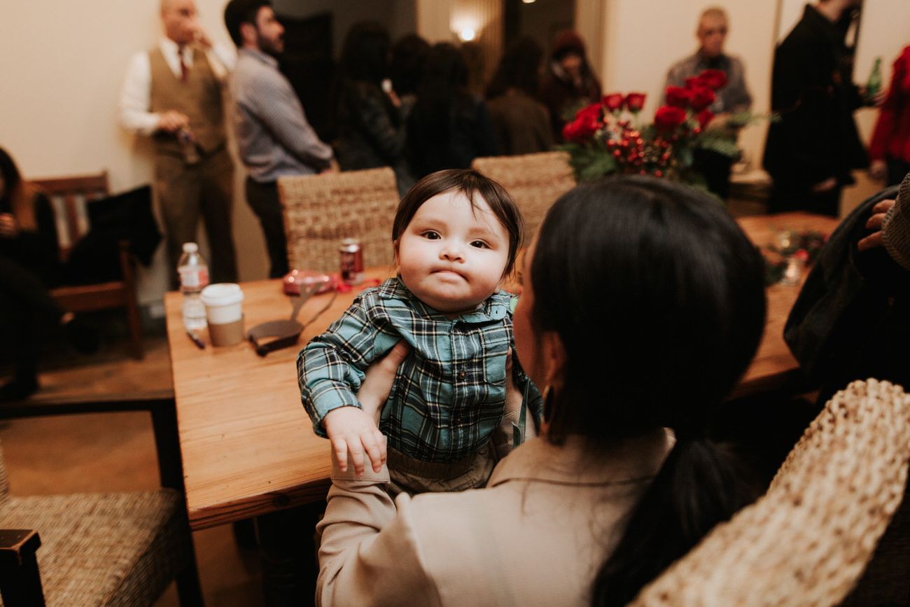 Cute wedding baby
