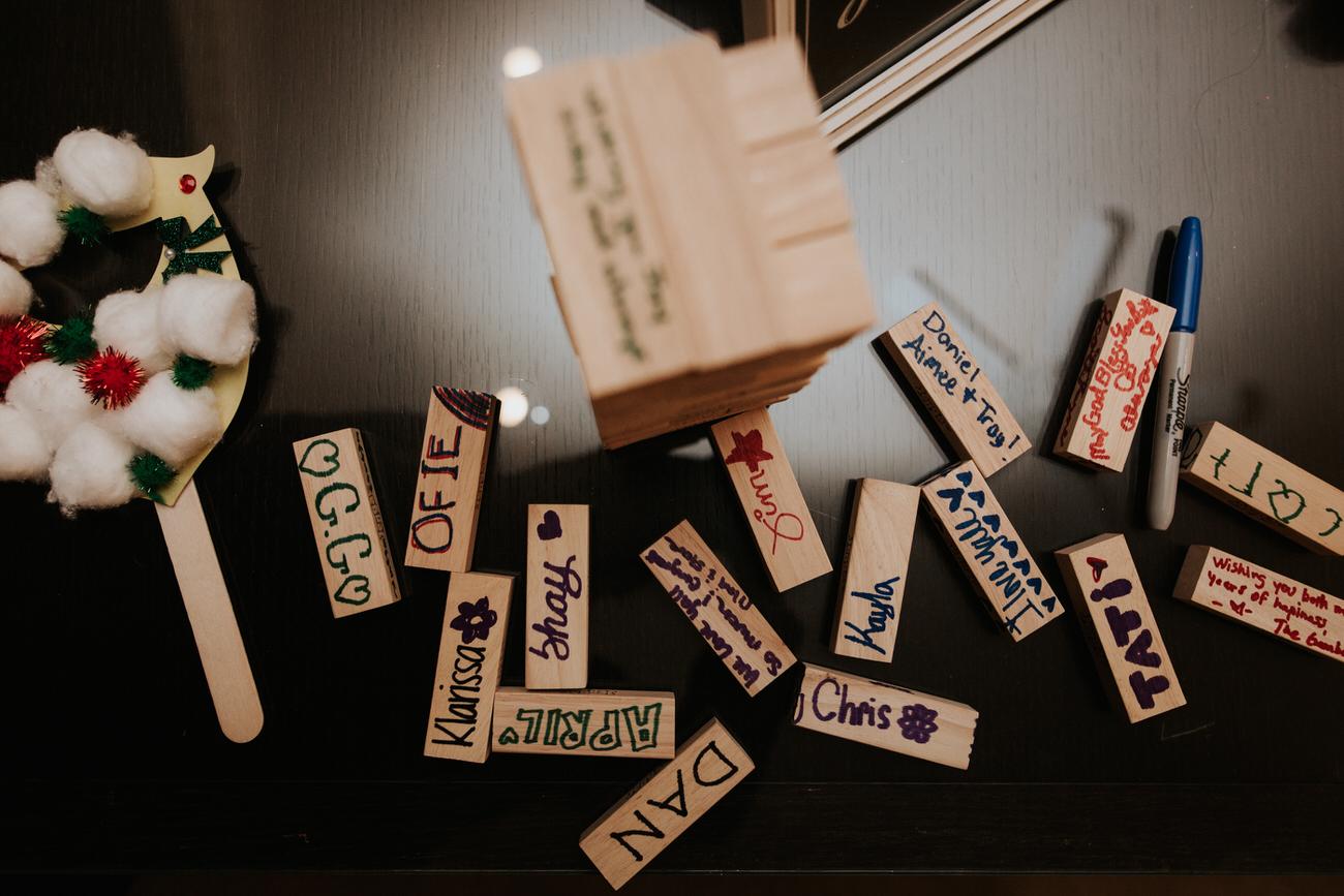 DIY wooden message blocks