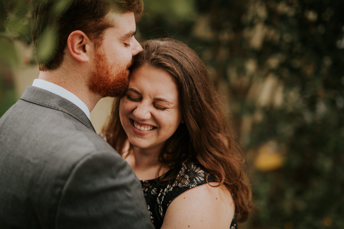 Couple in love laughing