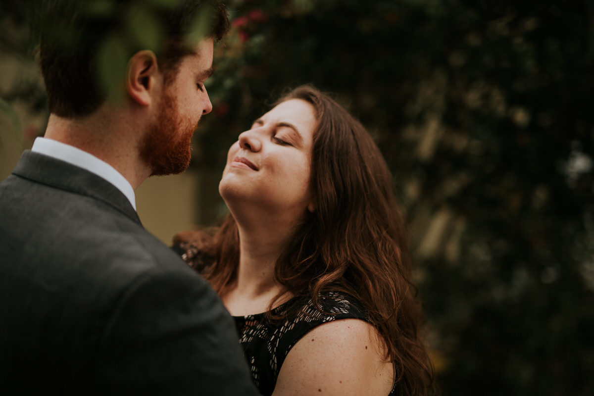 Couple in love looking at each other