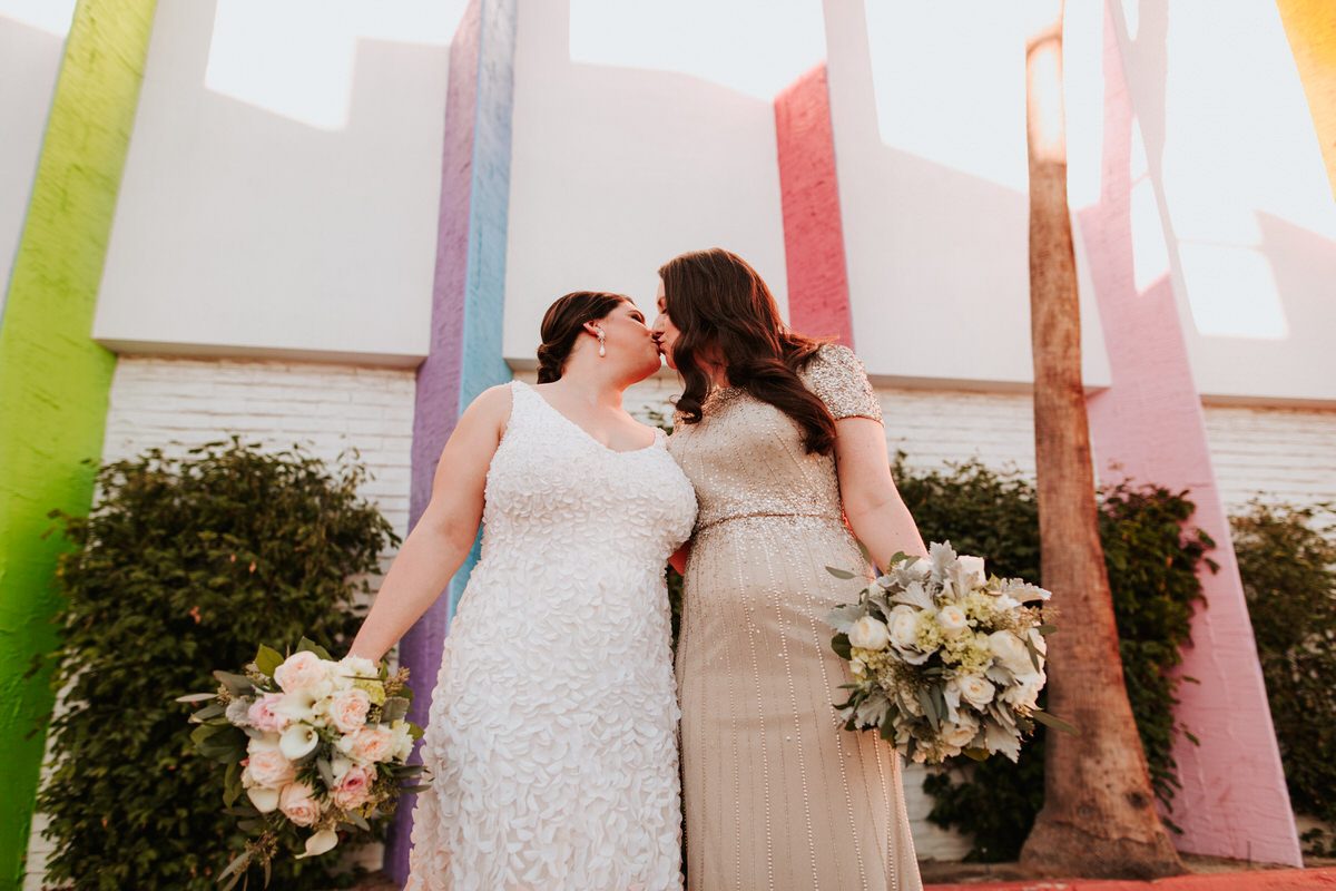 Two brides at Palm Springs wedding