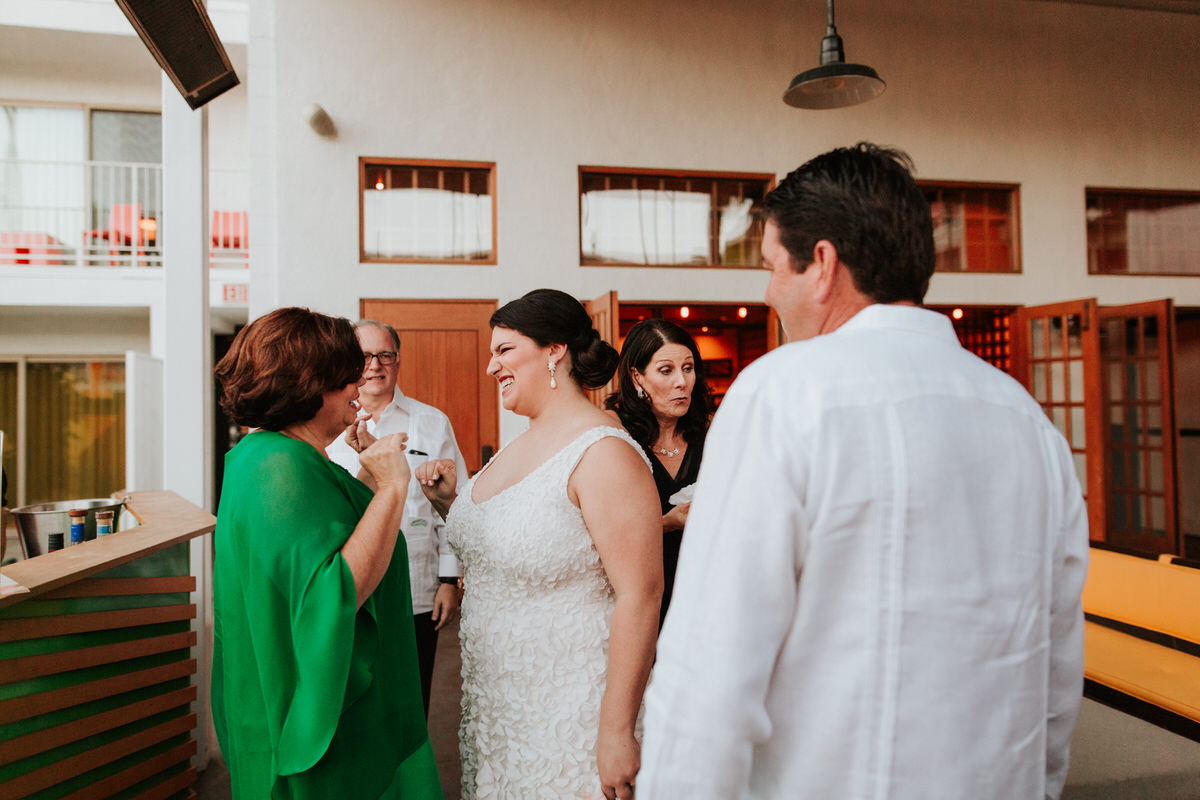 Happy guests at a California wedding