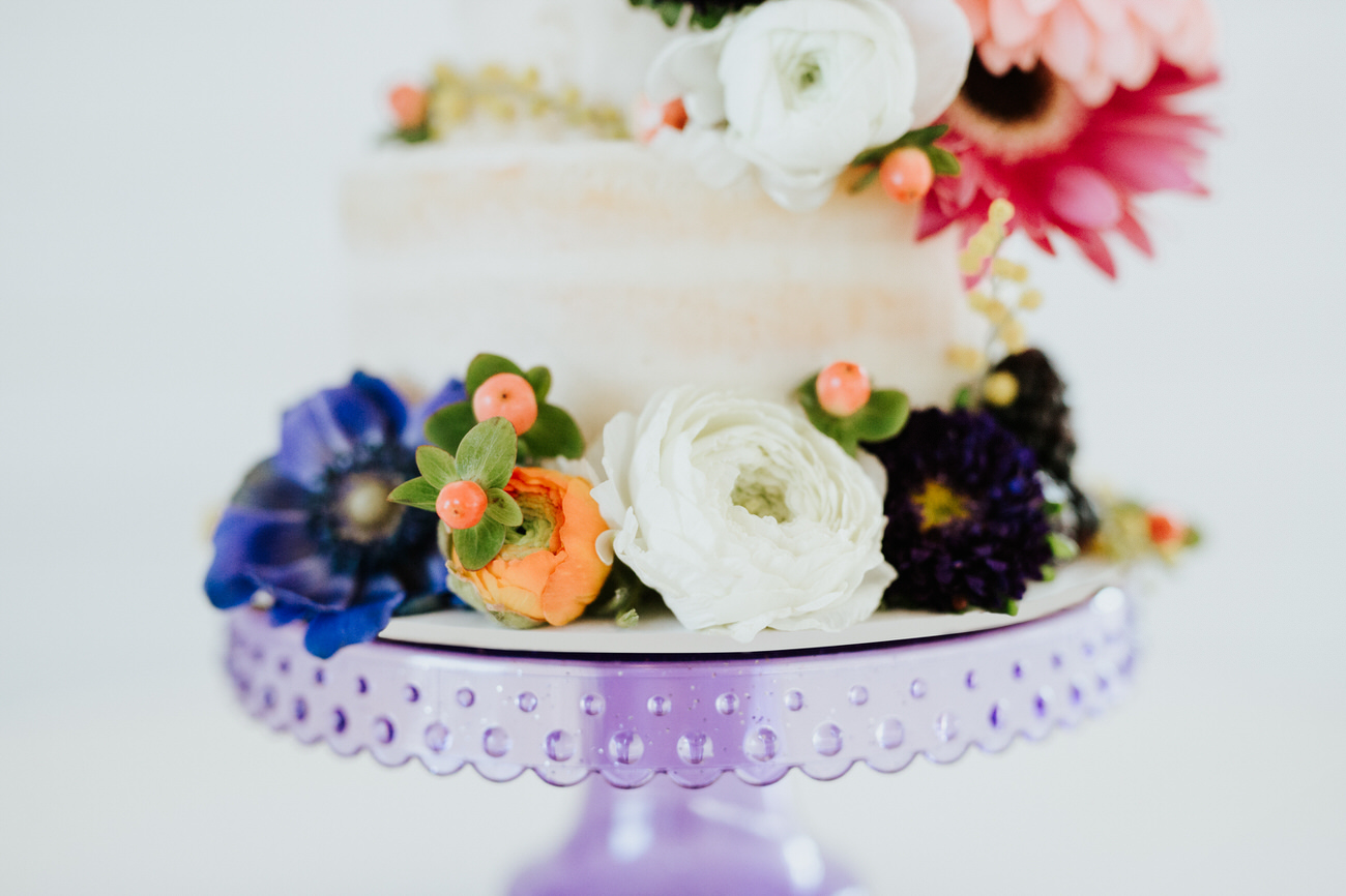 Oh Baby cake with flowers