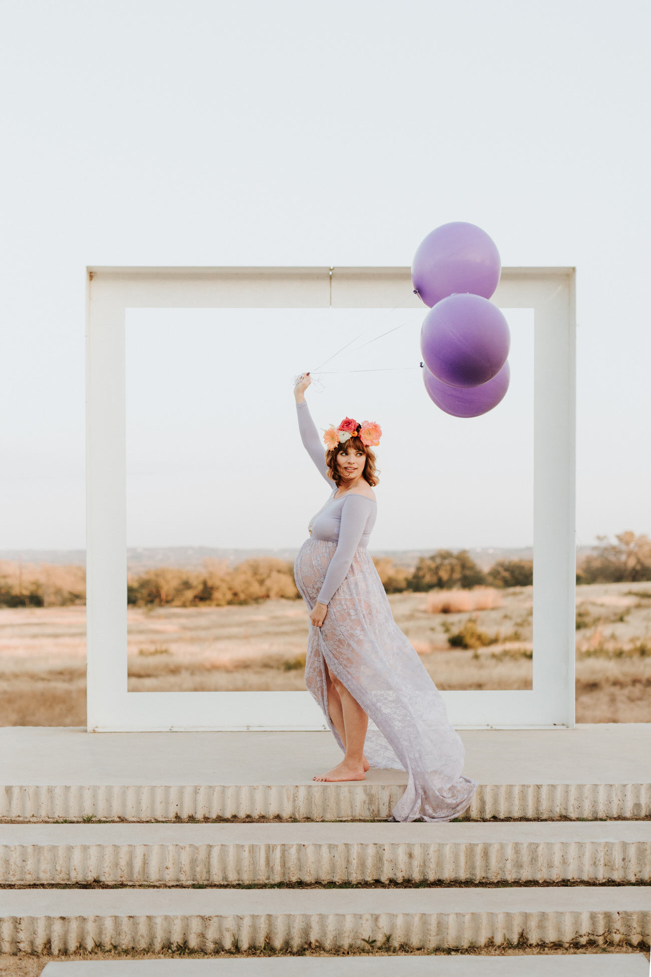 Beautiful pregnant woman at maternity shoot