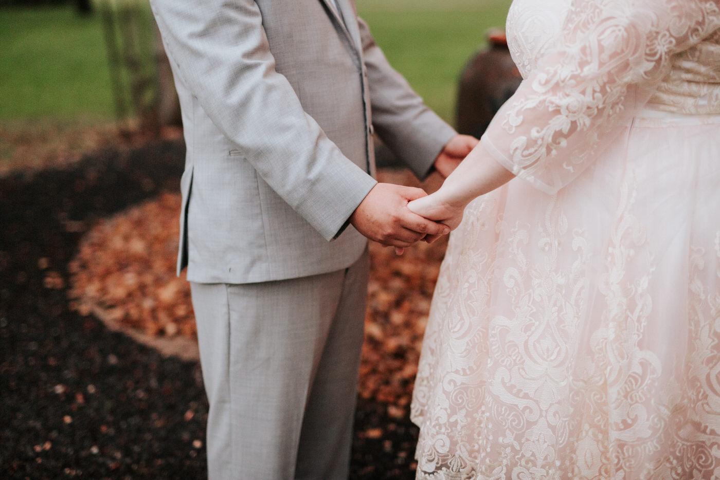 Bride and groom at Pecan Springs Ranch wedding