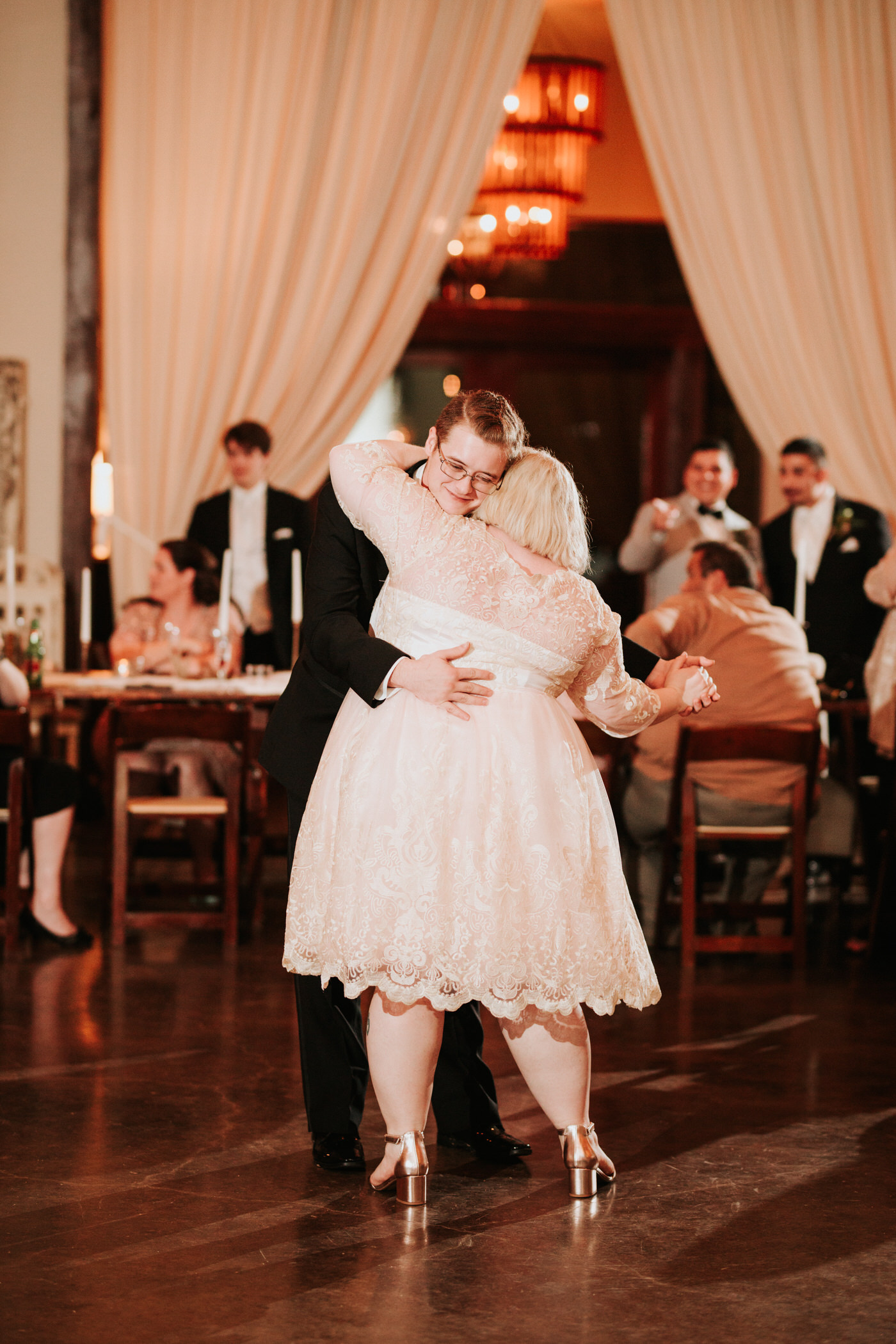 Bride dancing at Texas wedding reception