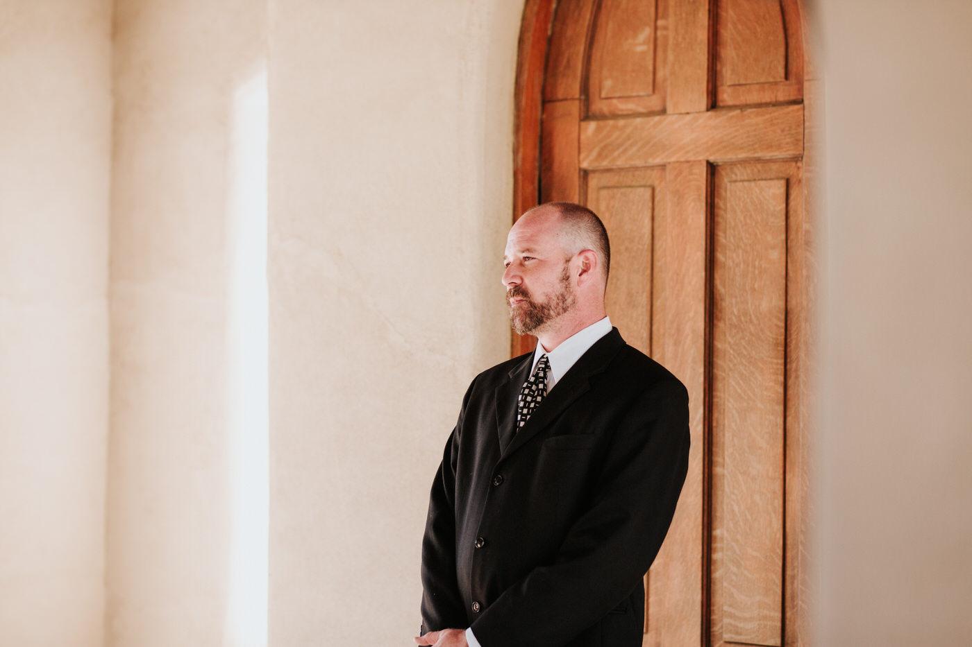 Wedding guest at Chapel Dulcinea wedding