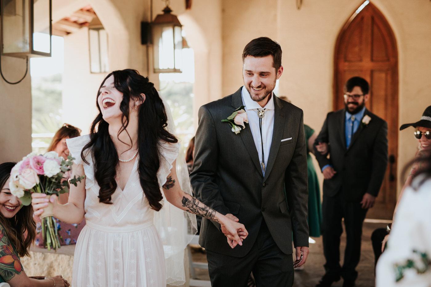Couple getting married at Chapel Dulcinea