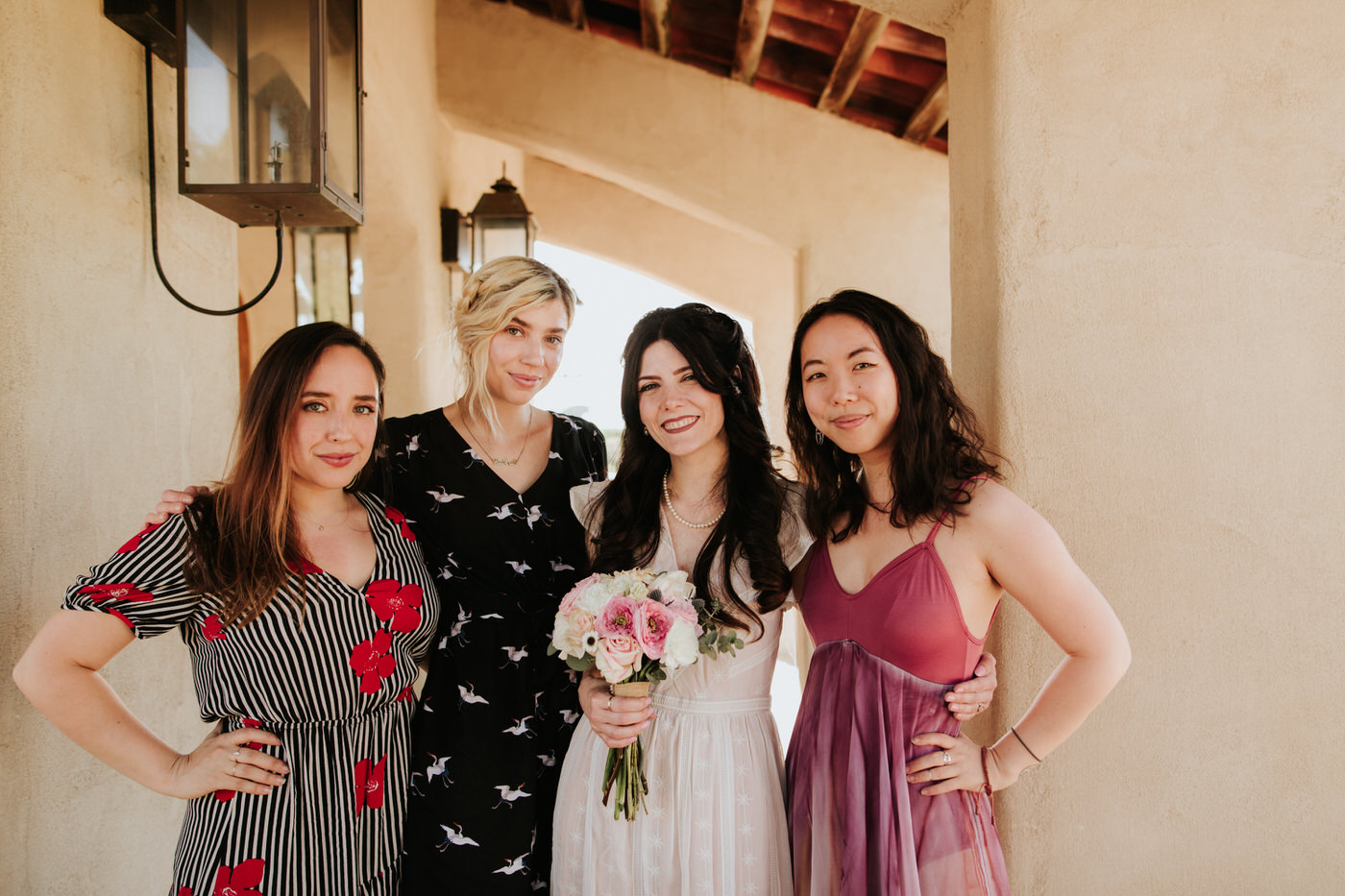 Bride and family getting married at Chapel Dulcinea