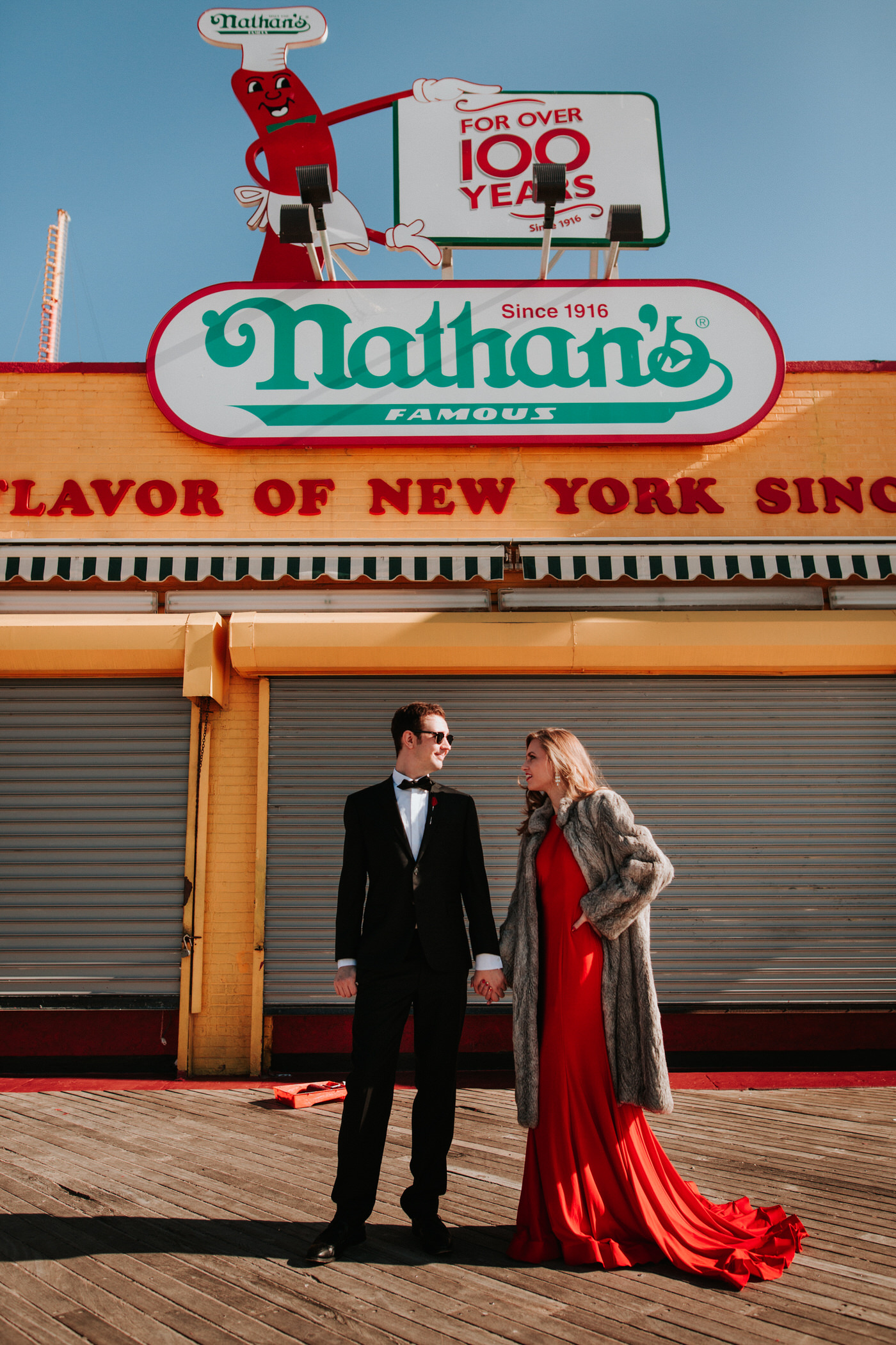 Coney Island engagement photography
