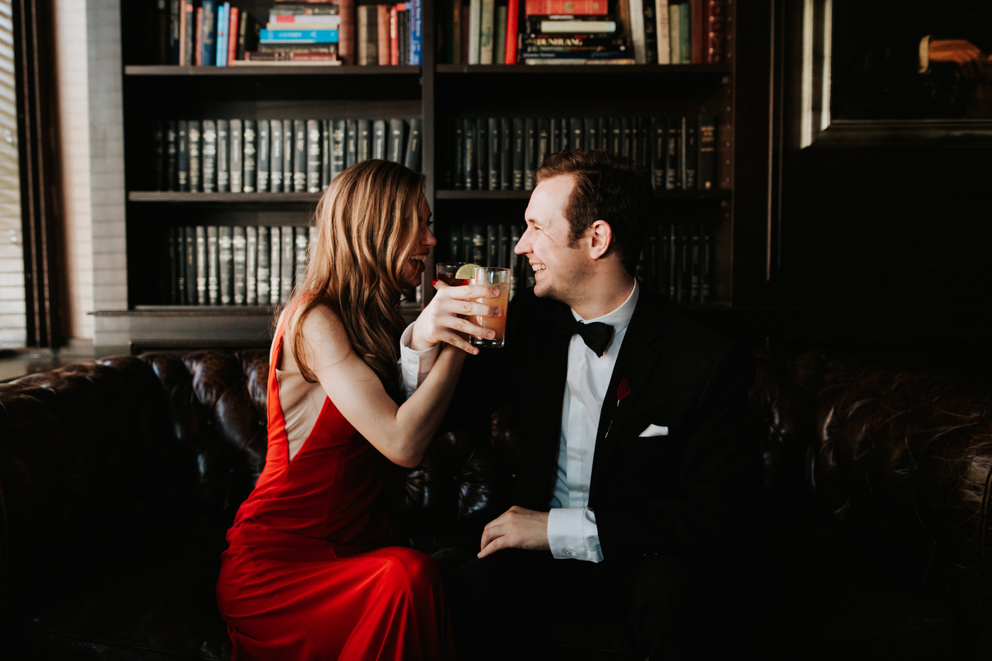 Chic Union Hall engagement session