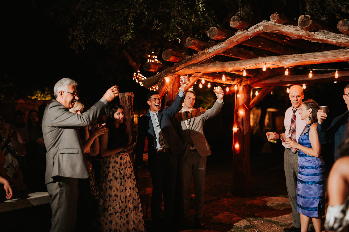 Wedding reception at Texas hill country wedding