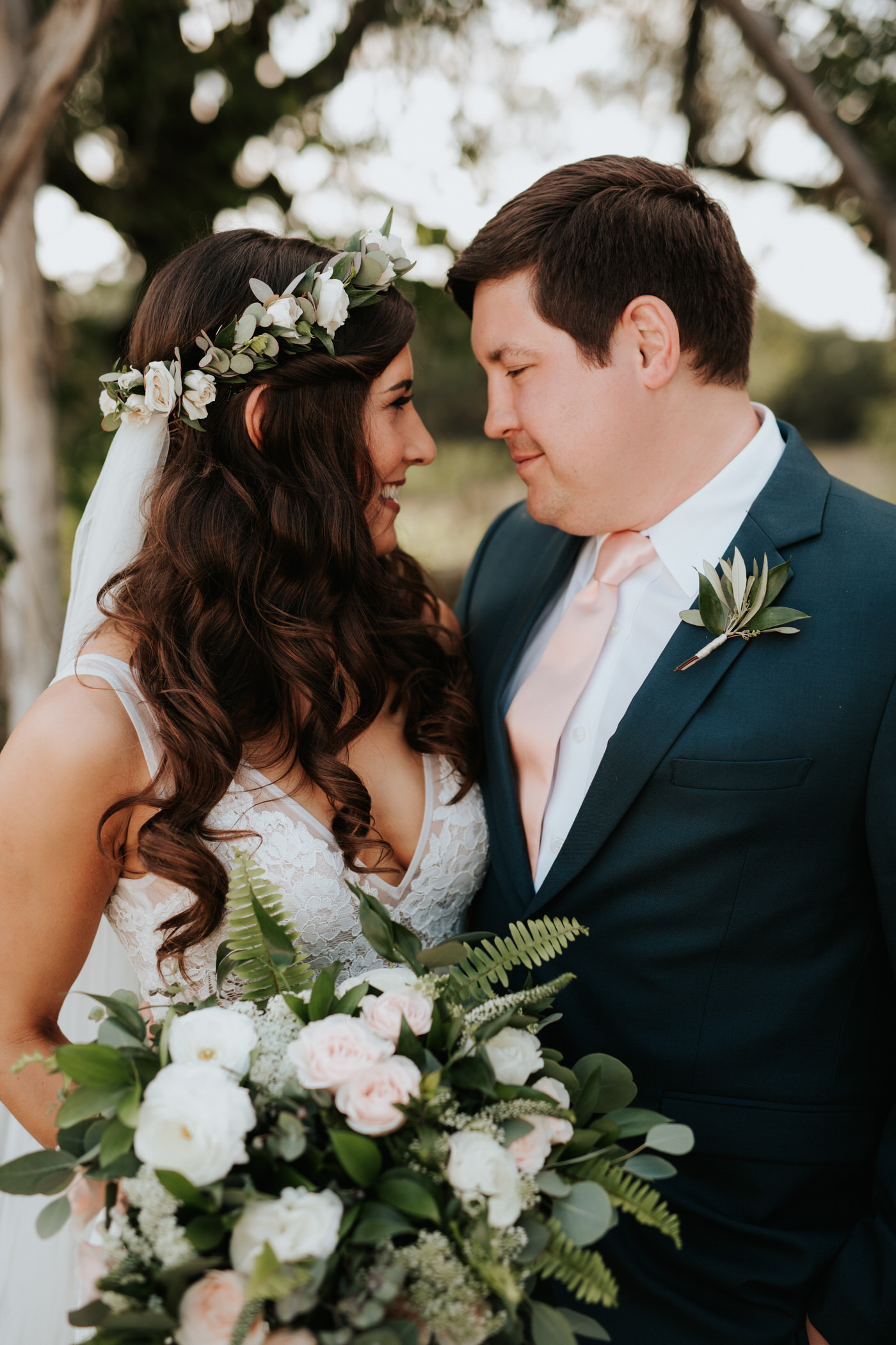 Bride and groom at Thurman's Mansion