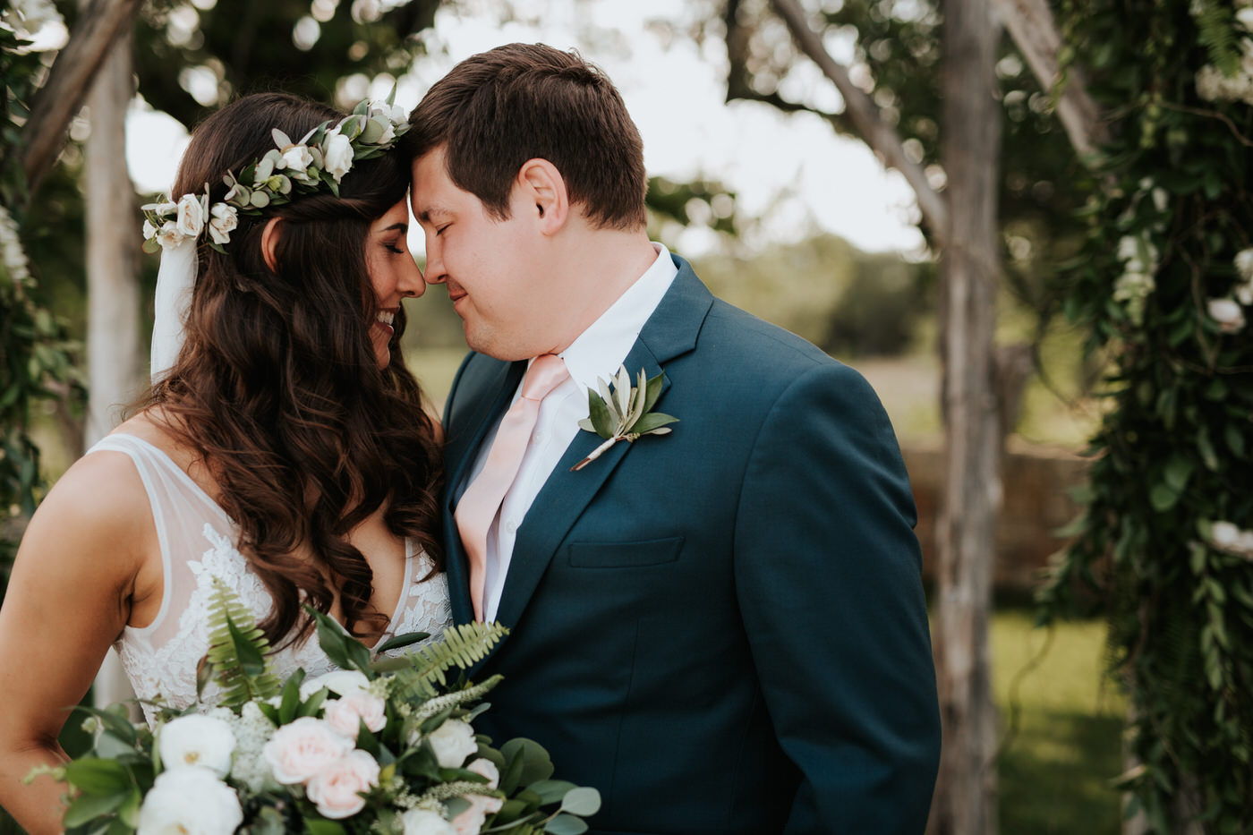 Bride and groom at Thurman's Mansion wedding