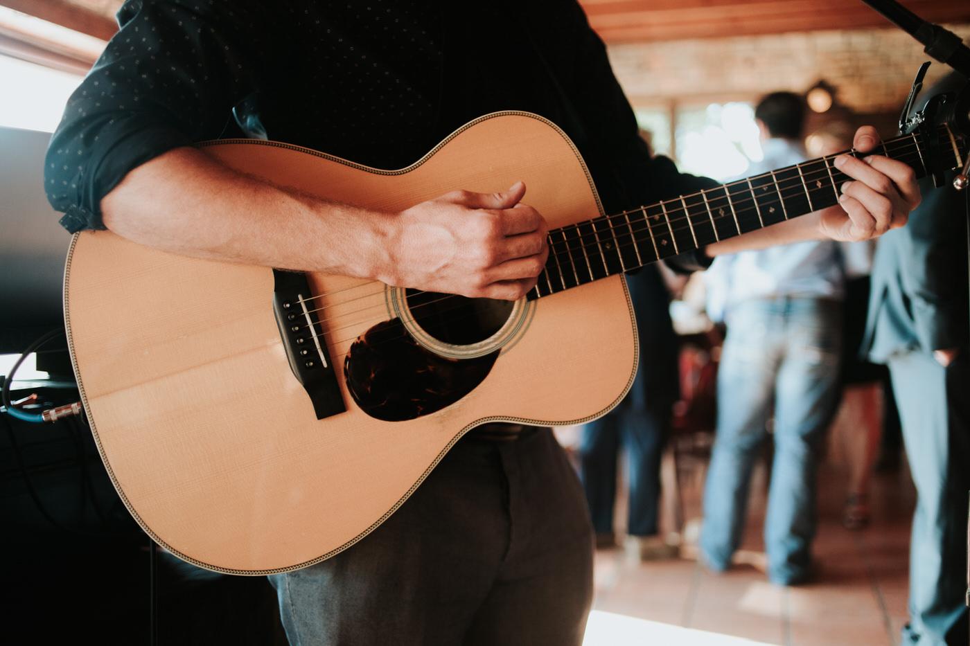 Guitar at wedding reception