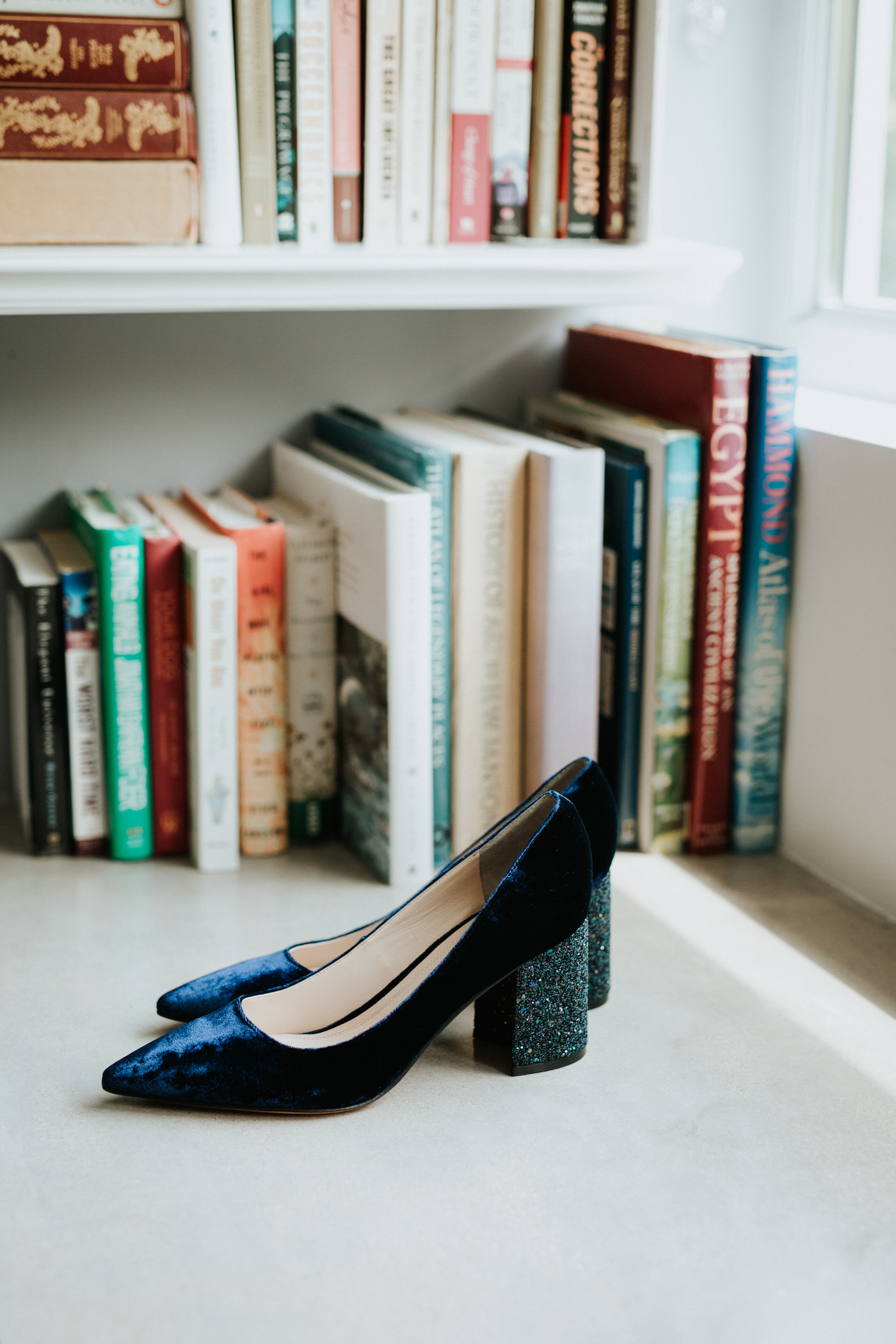 Velvet wedding shoes