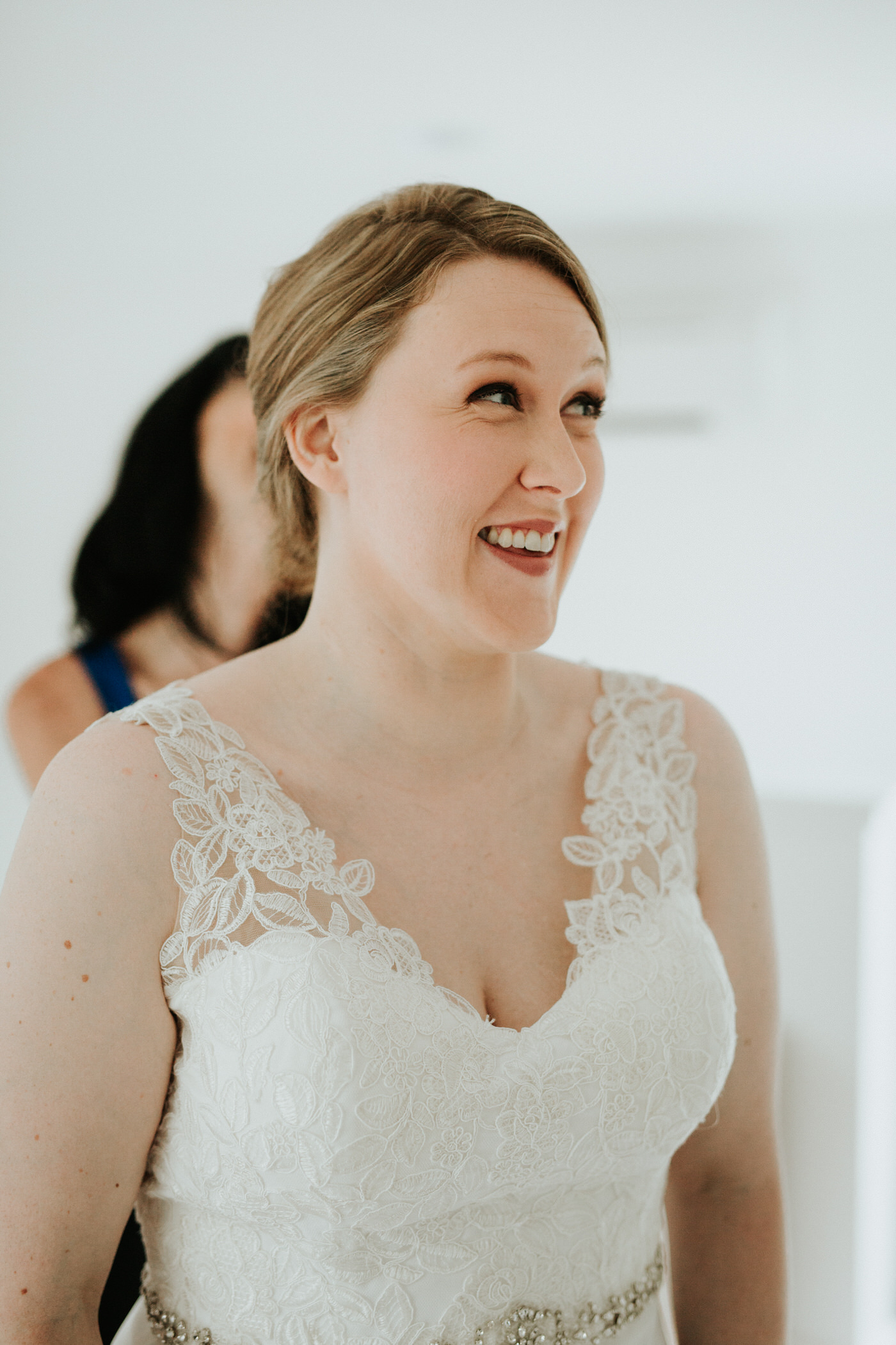 Bride getting ready for Chapel Dulcinea wedding