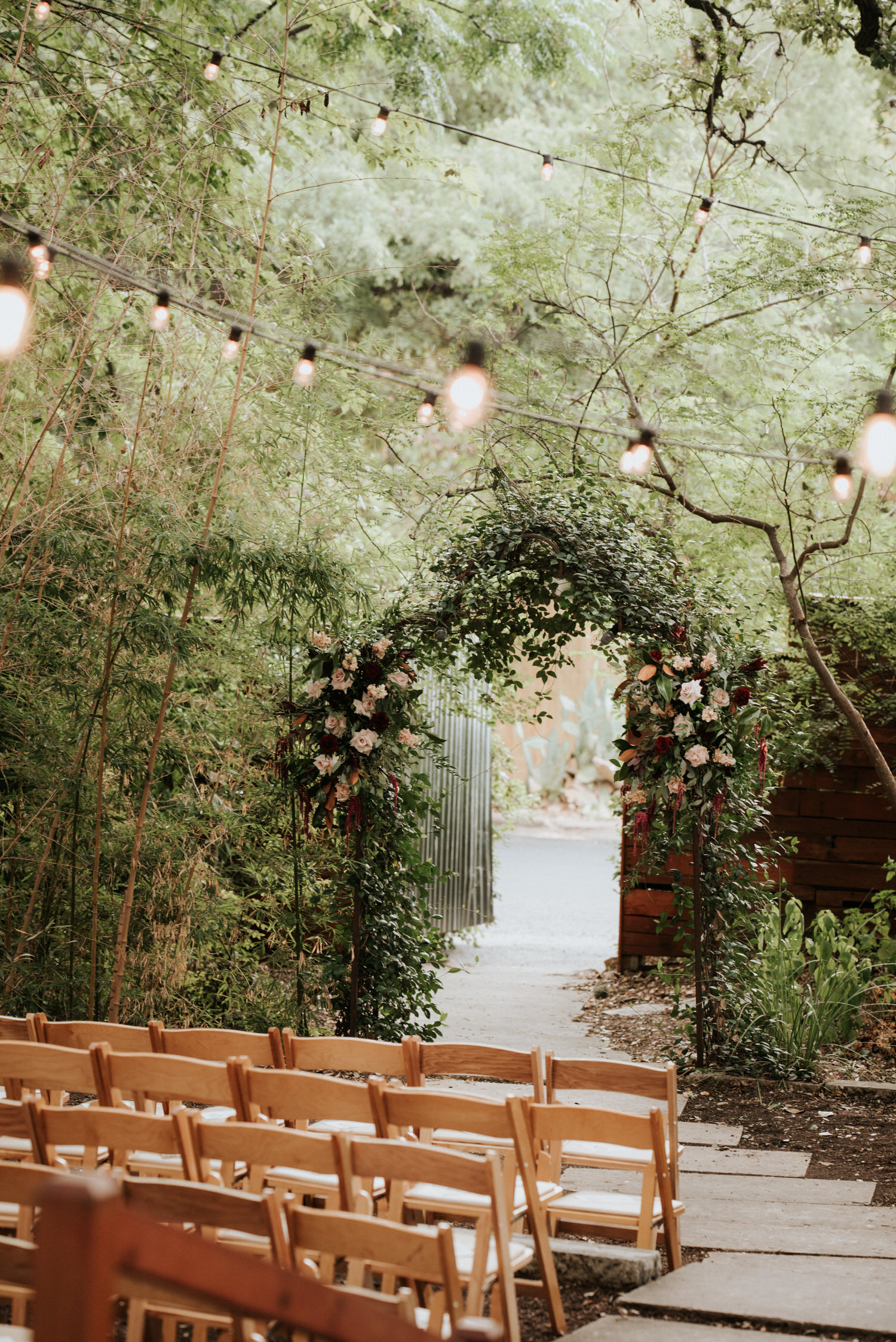 Getting ready for the wedding at The Sanctuary Austin