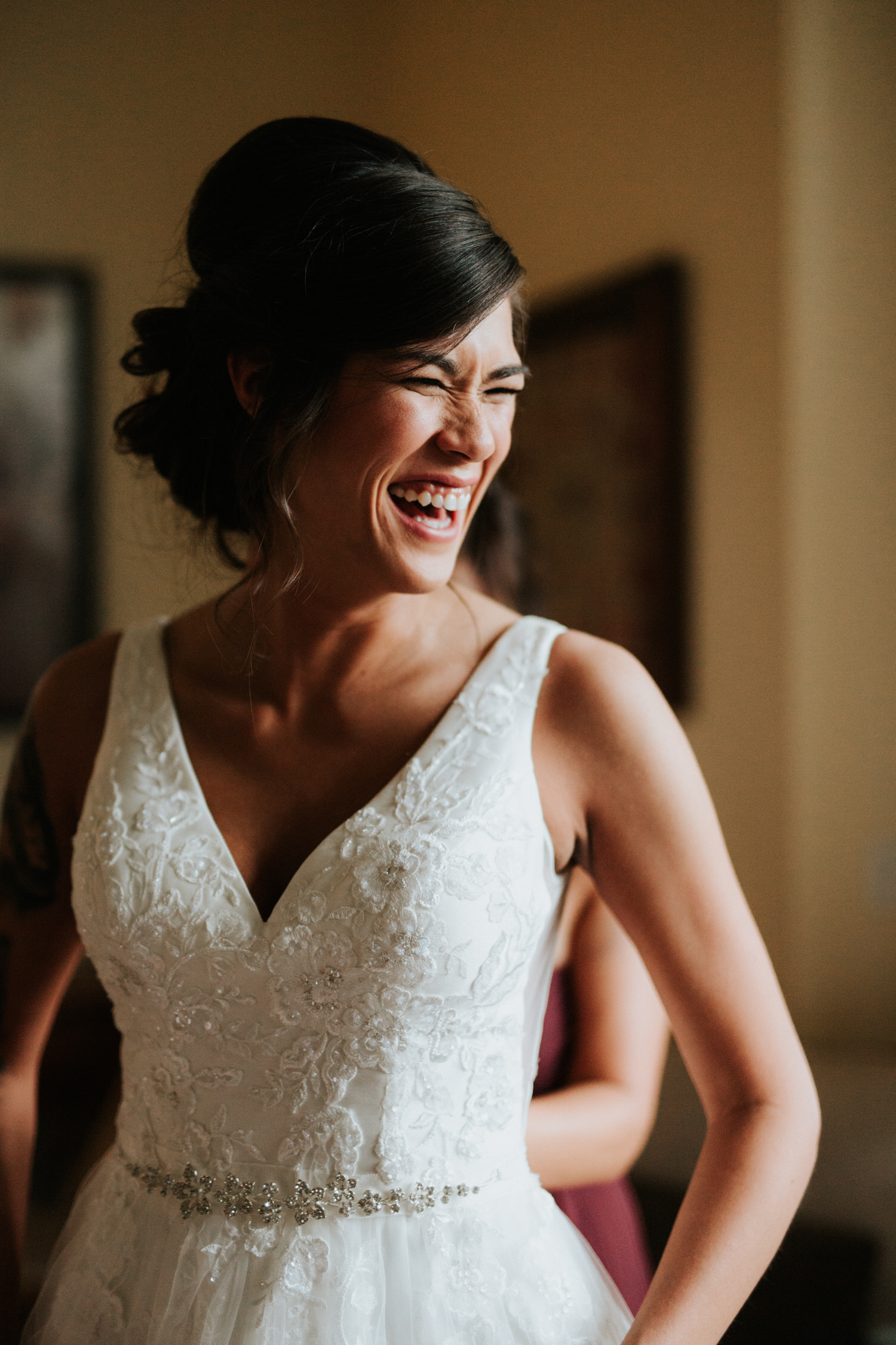 Bride getting ready for the wedding at The Sanctuary Austin
