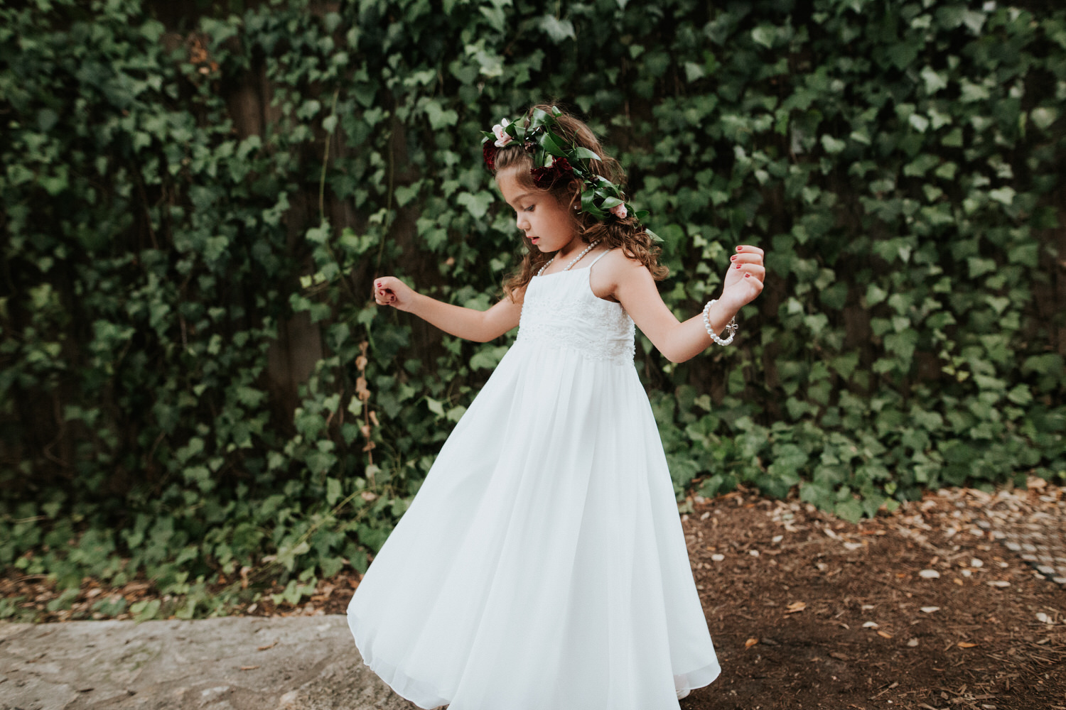Little girl at The Sanctuary wedding