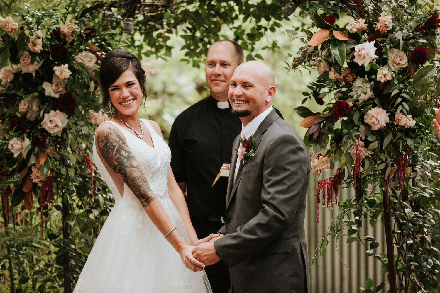 Couple getting married at The Sanctuary wedding