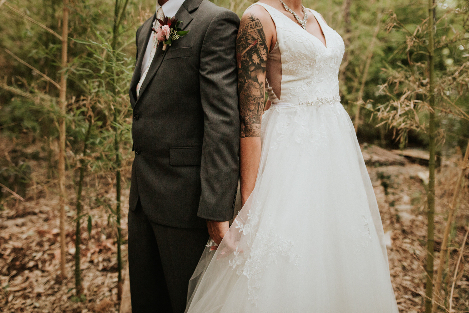 Bride and groom at The Sanctuary wedding