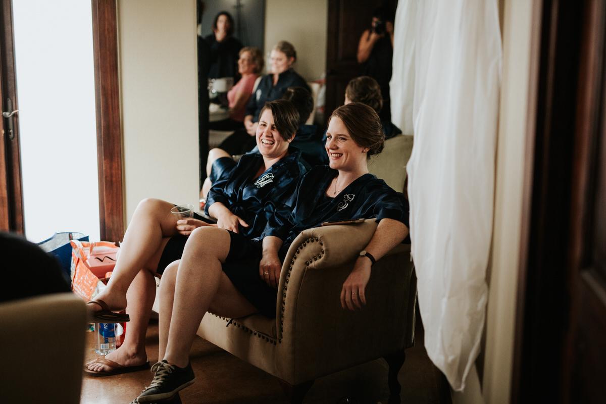 Getting ready for lesbian wedding