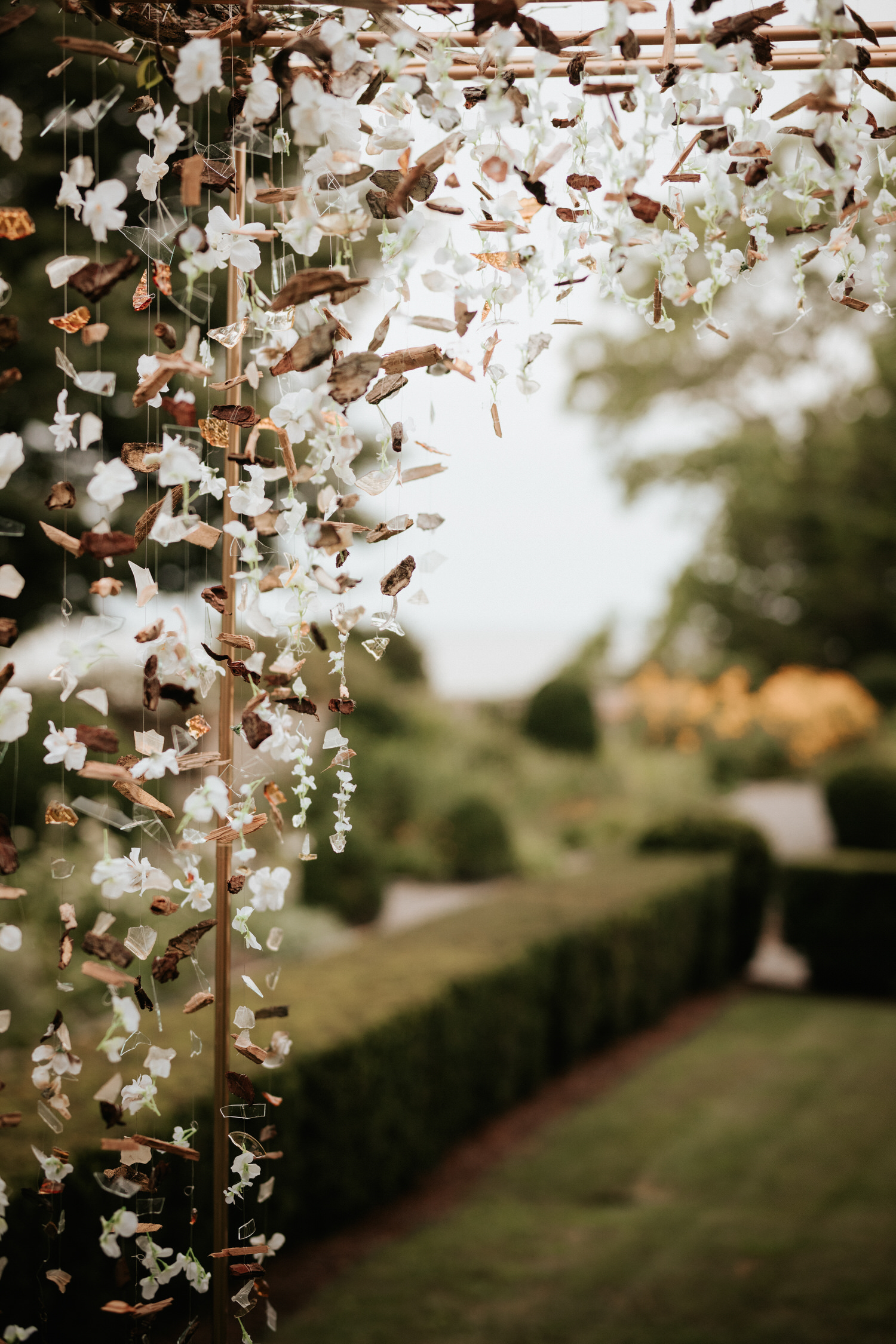 Flower arch at Eolia Mansion glamour wedding