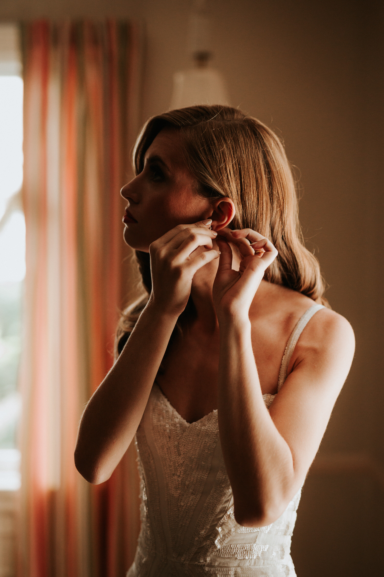 Getting ready for Eolia Mansion glamour wedding