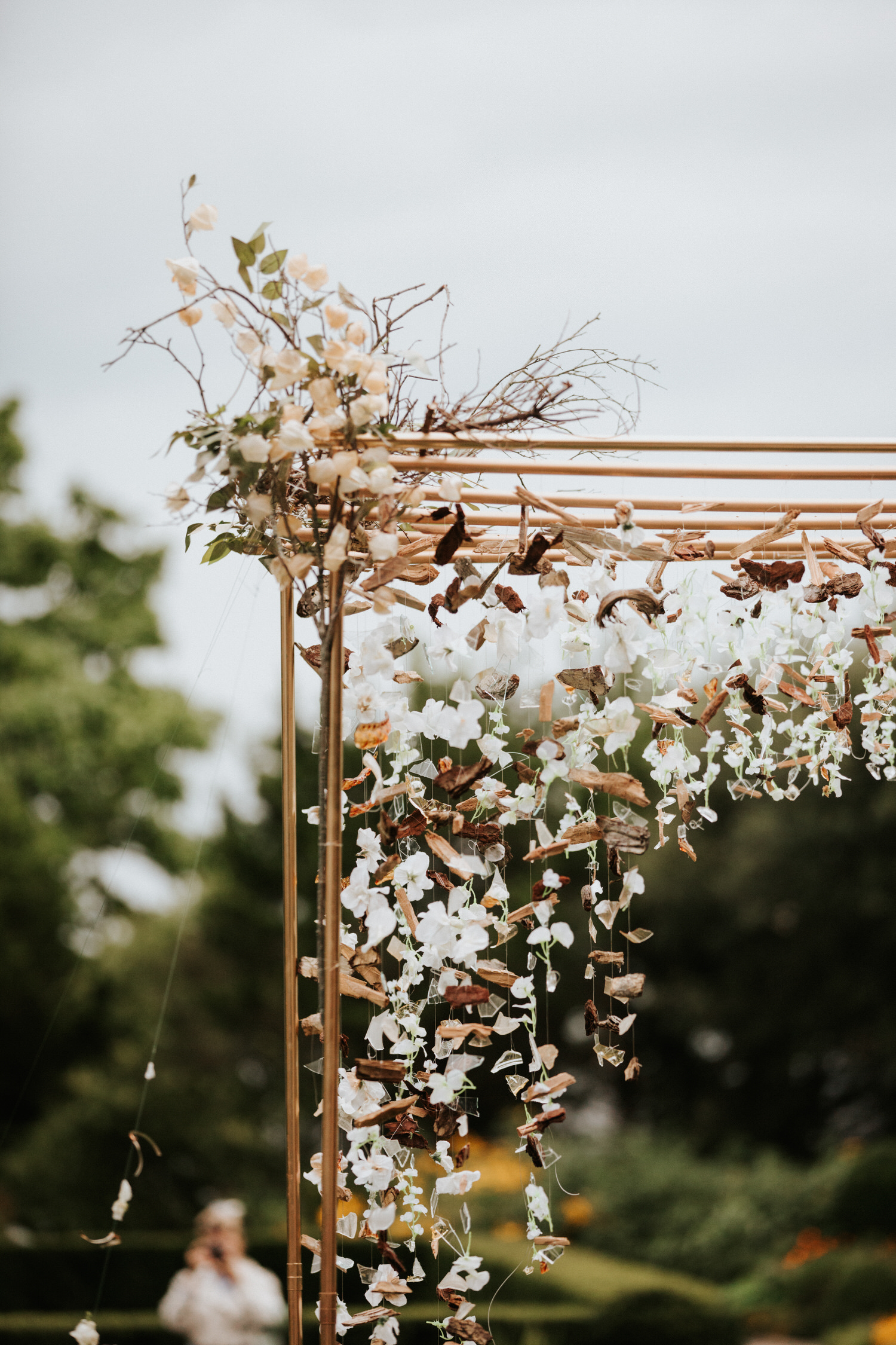 Arch at Eolia Mansion glamour wedding